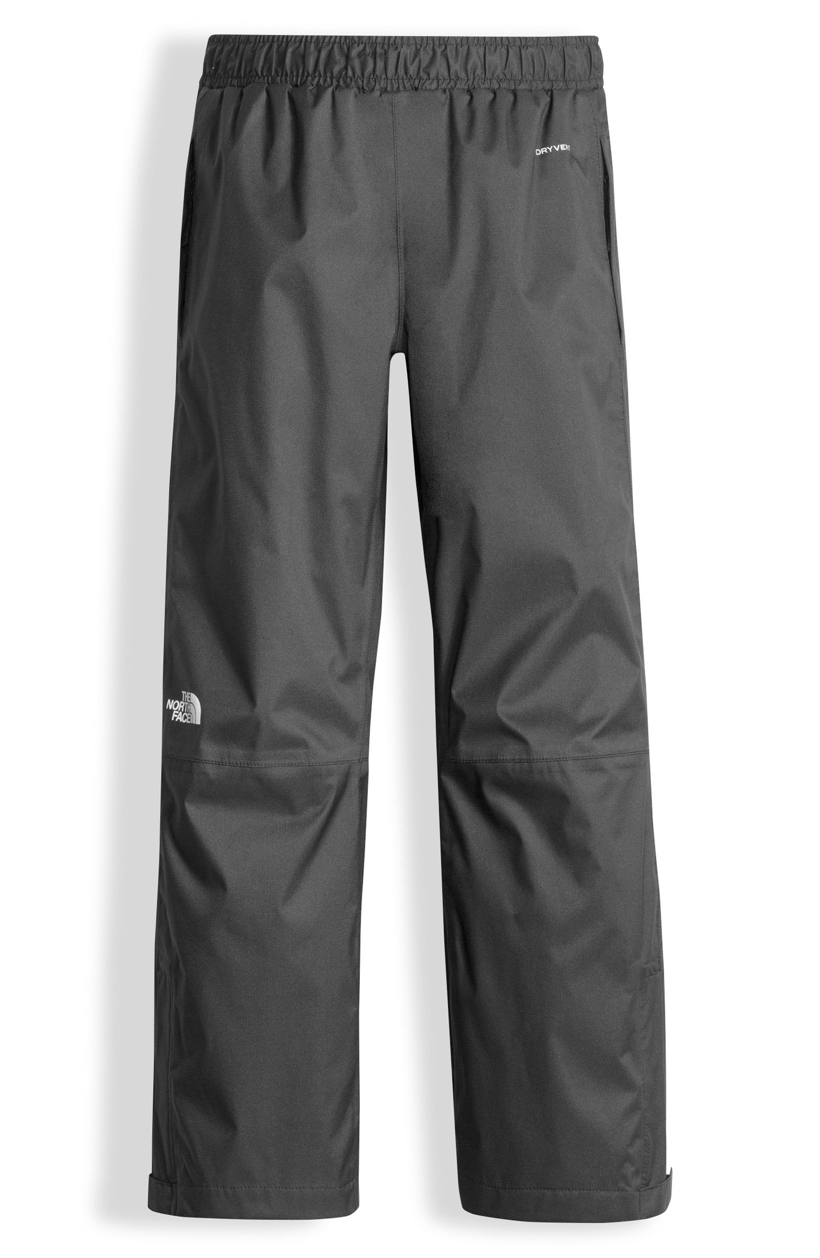 THE NORTH FACE Resolve Waterproof Rain Pants, Main, color, GRAPHITE GREY