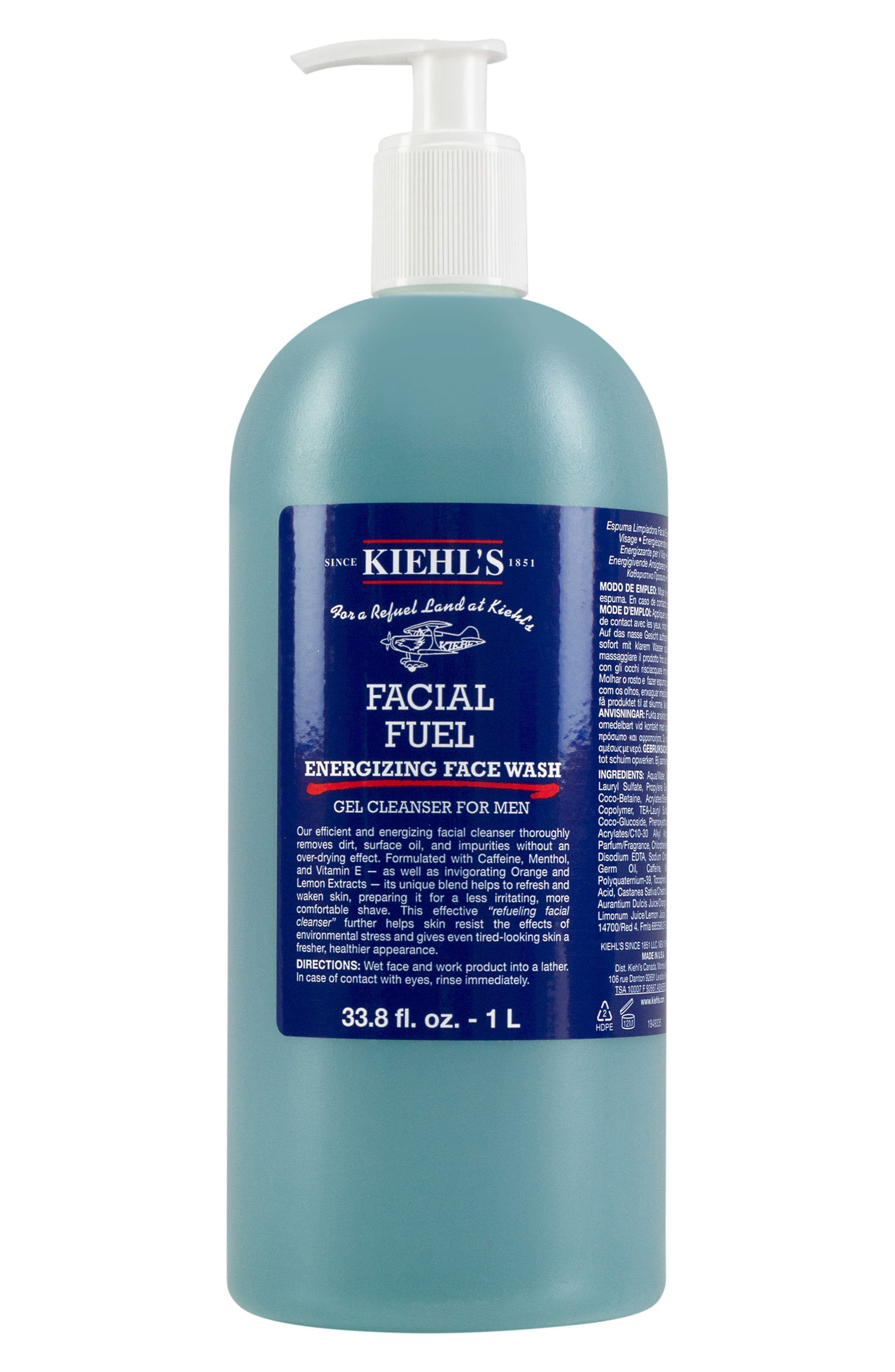 KIEHL'S SINCE 1851, Jumbo Facial Fuel Energizing Face Wash, Main thumbnail 1, color, NO COLOR