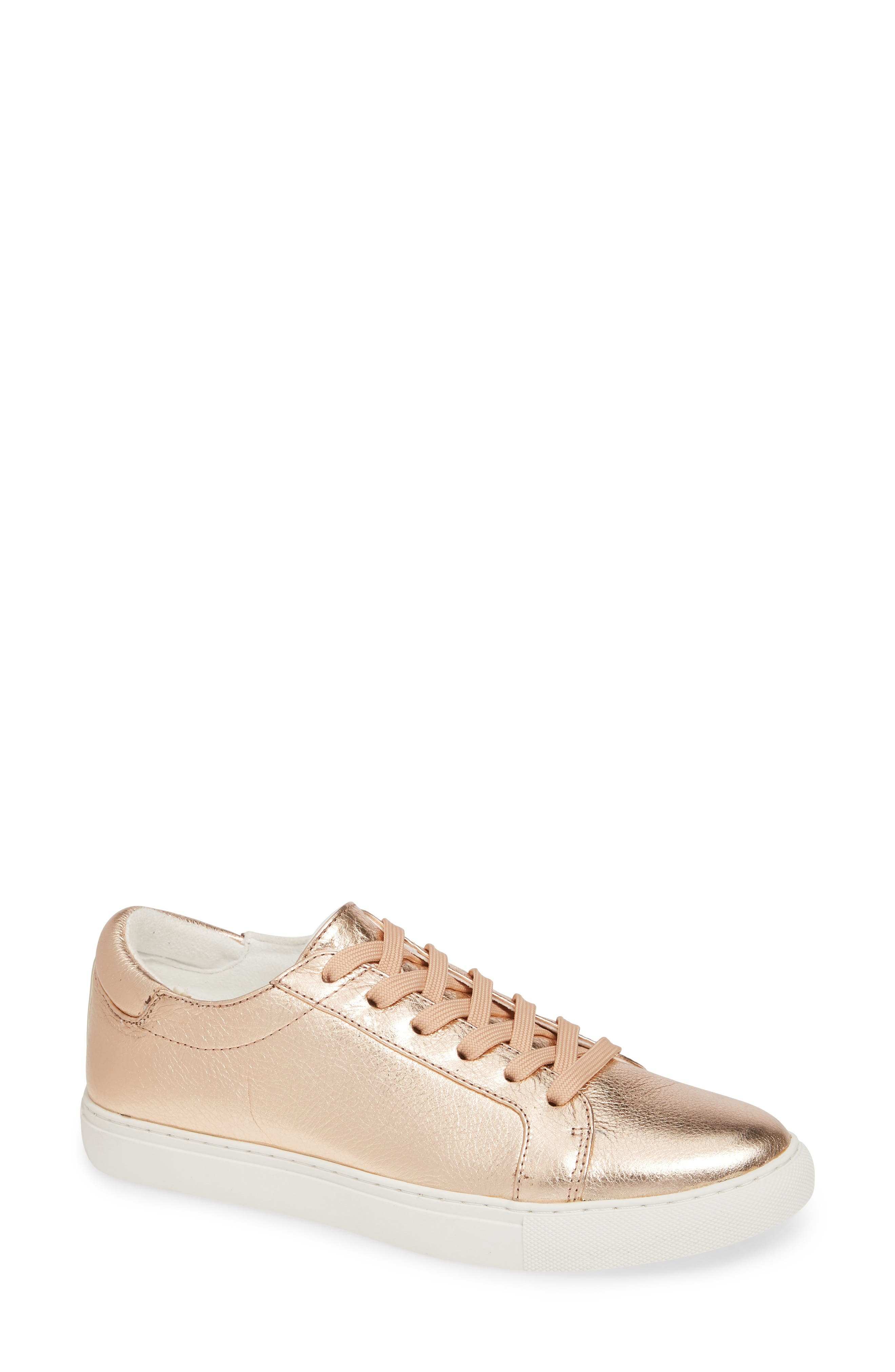 KENNETH COLE NEW YORK, 'Kam' Sneaker, Main thumbnail 1, color, ROSE GOLD LEATHER