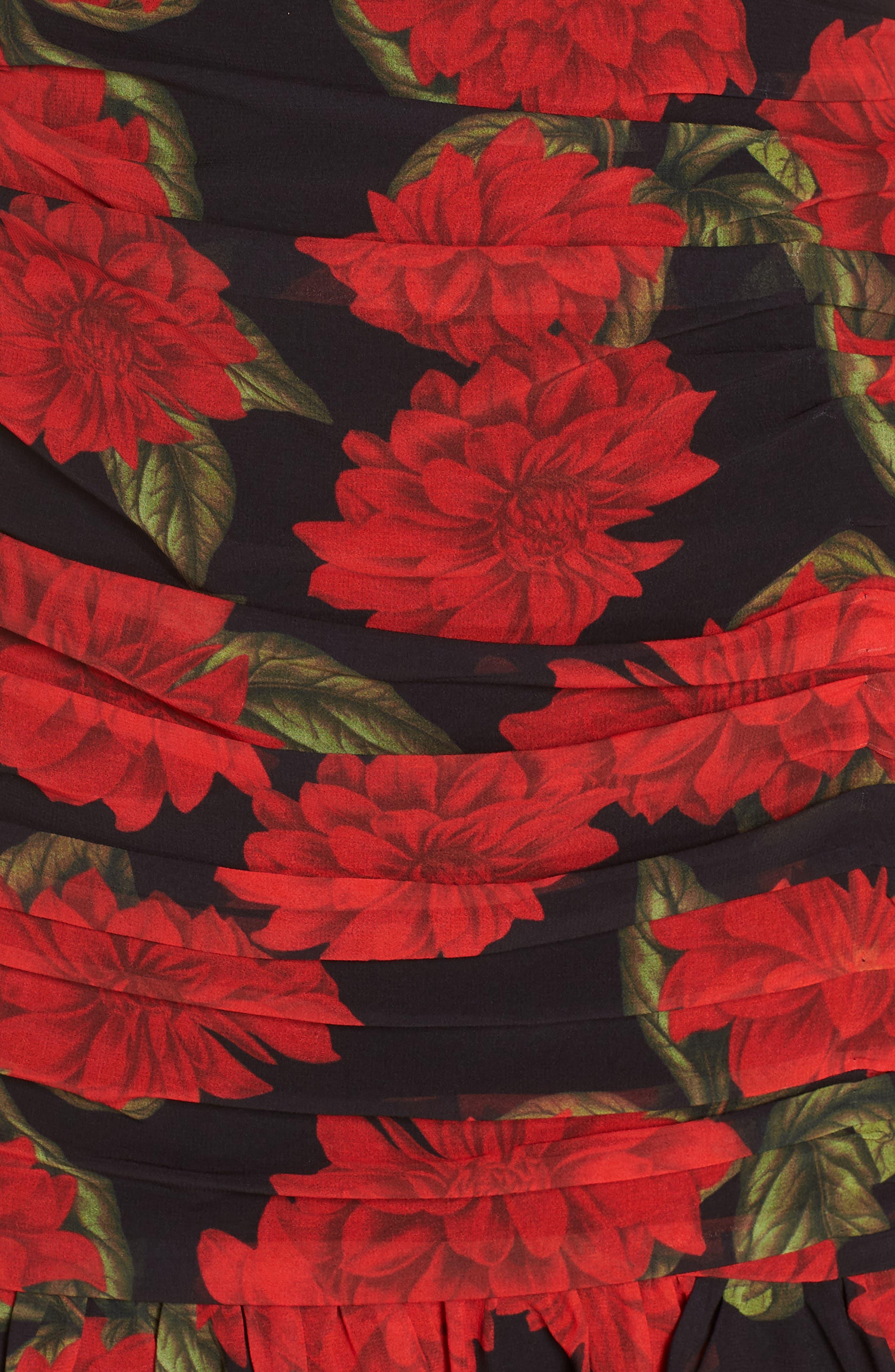 KEEPSAKE THE LABEL, Find You Floral Dress, Alternate thumbnail 6, color, 001