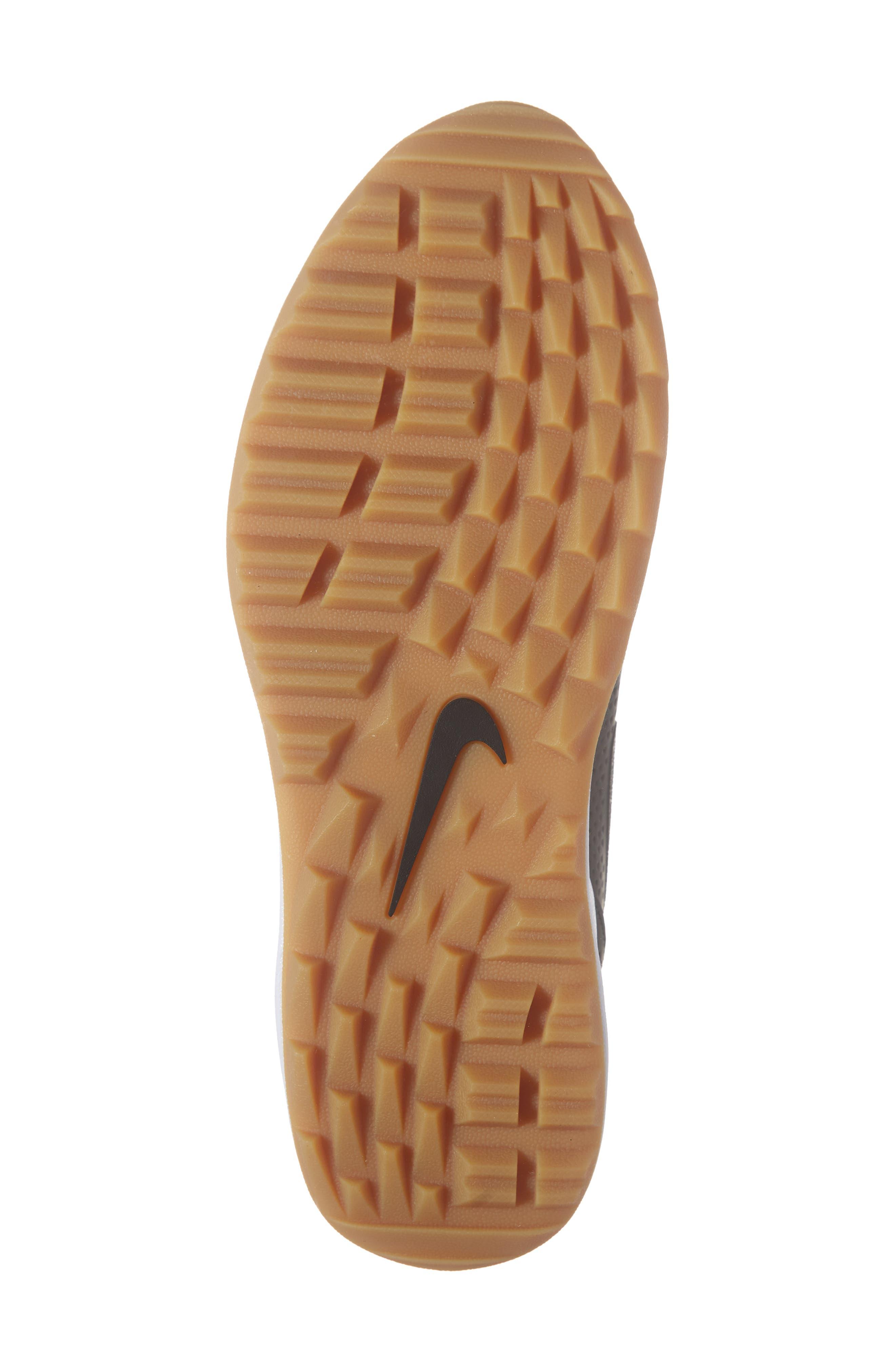 NIKE, Air Max 1 Golf Sneaker, Alternate thumbnail 6, color, BLACK/ GUM LIGHT BROWN
