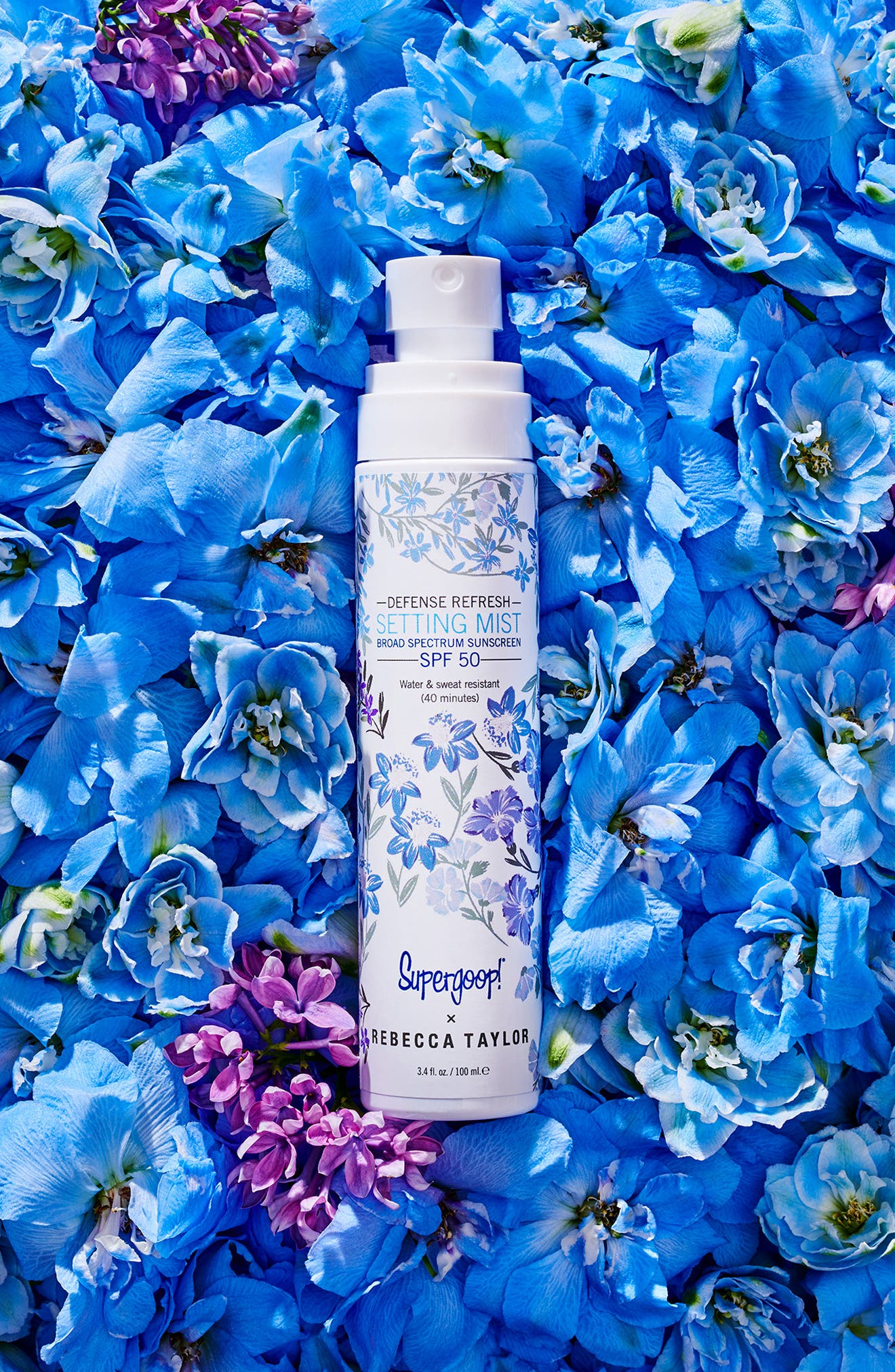 SUPERGOOP!<SUP>®</SUP>, Supergoop! x Rebecca Taylor Defense Refresh Setting Mist Broad Spectrum SPF 50, Alternate thumbnail 5, color, NO COLOR