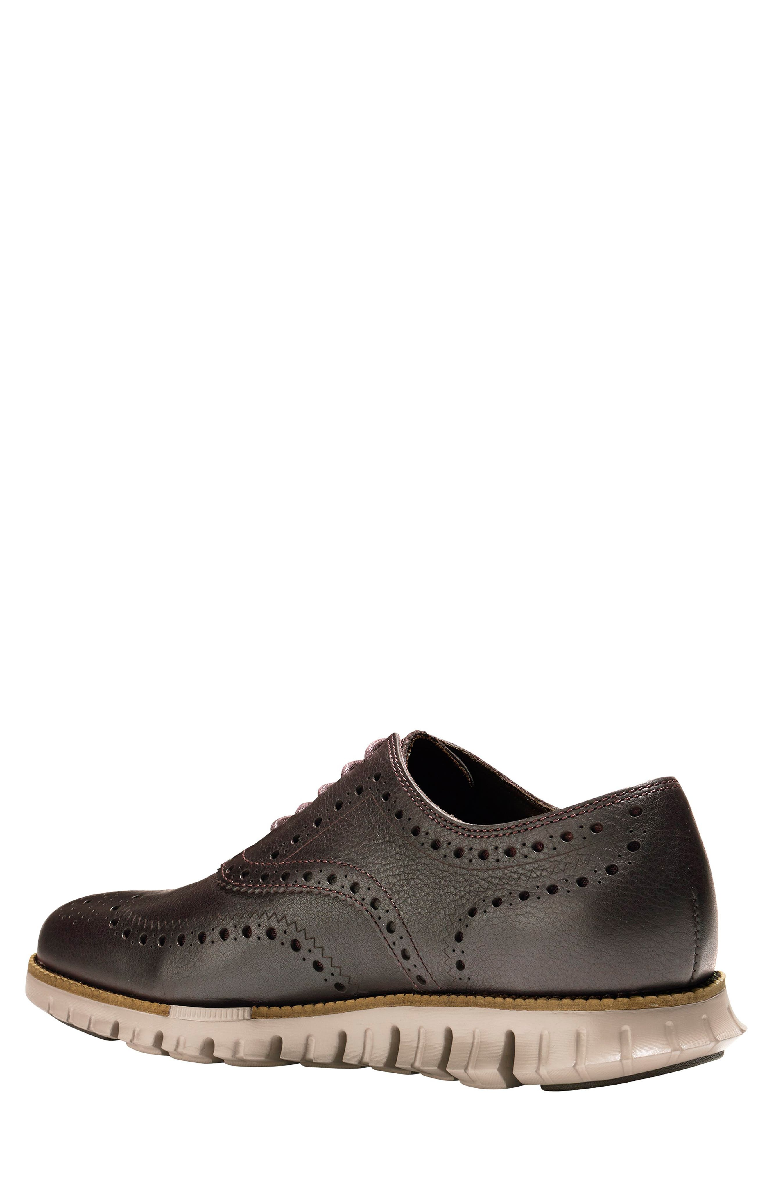 COLE HAAN, 'ZeroGrand' Wingtip Oxford, Alternate thumbnail 2, color, JAVA LEATHER