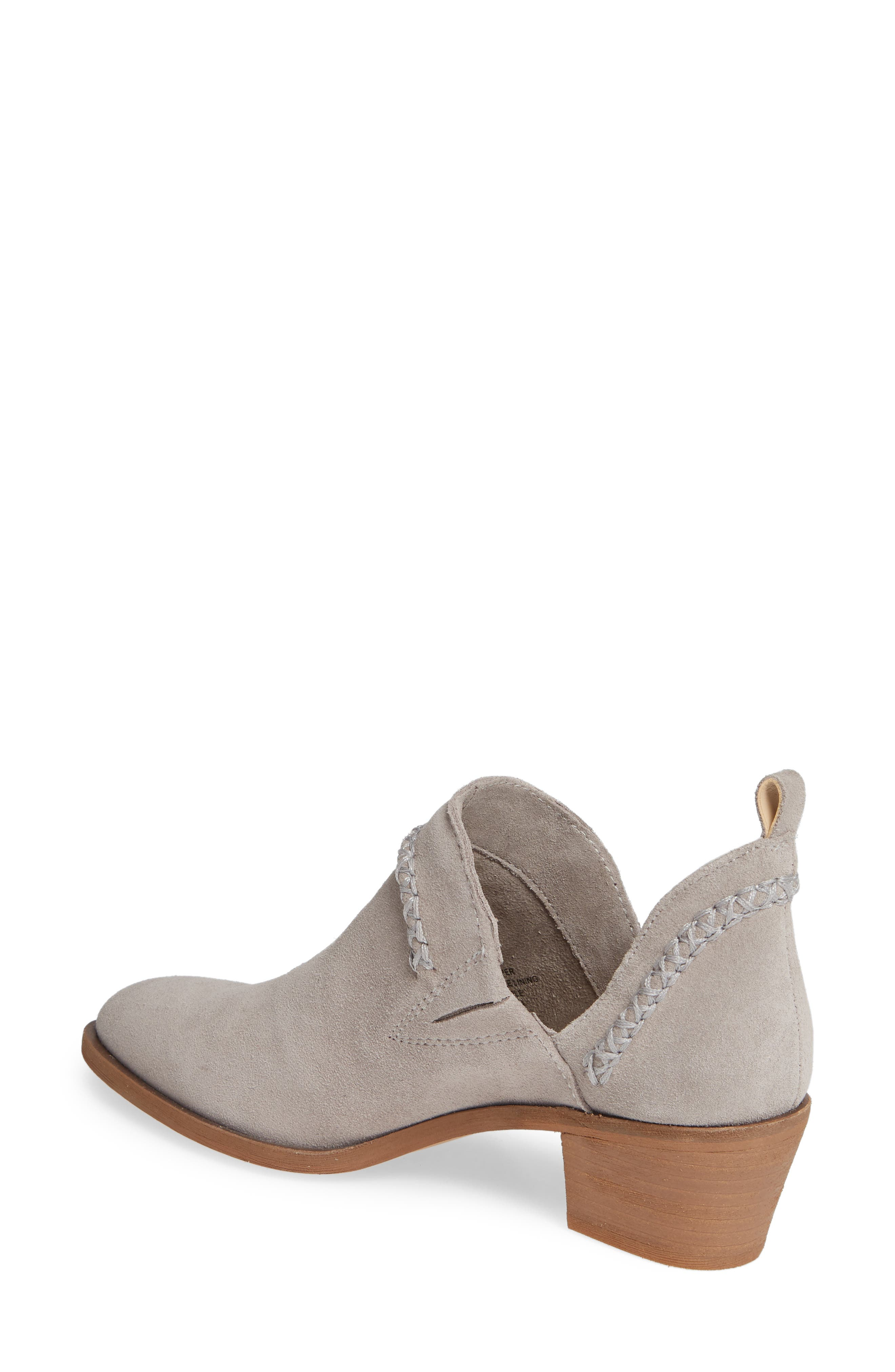 SOLE SOCIETY, Nikkie Bootie, Alternate thumbnail 2, color, SOFT GREY SUEDE
