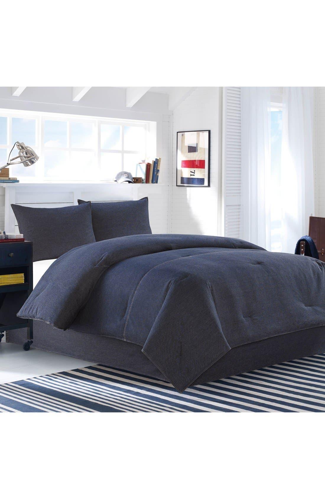 NAUTICA, Seaward Comforter & Sham Set, Main thumbnail 1, color, DENIM BLUE