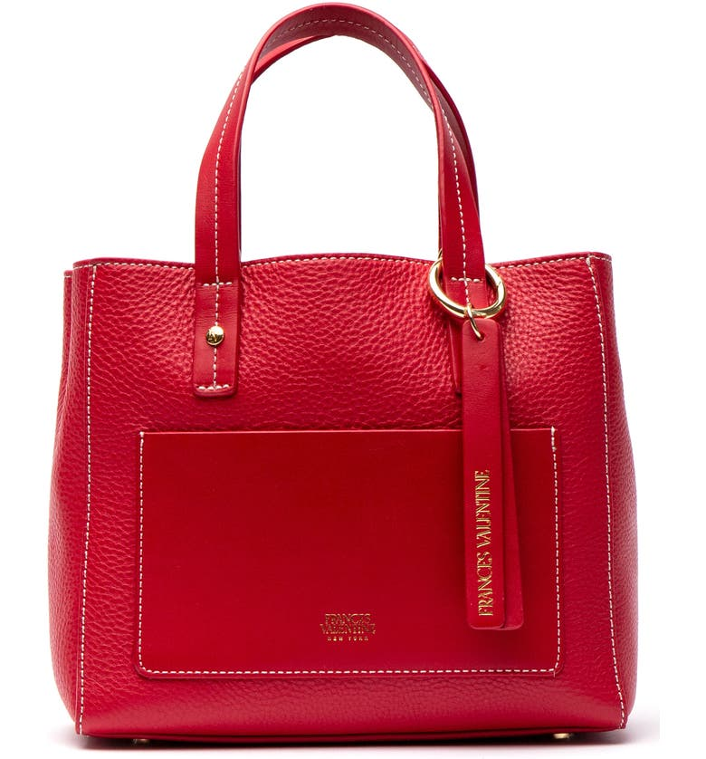 Frances Valentine Totes SMALL CHLOE LEATHER TOTE - RED