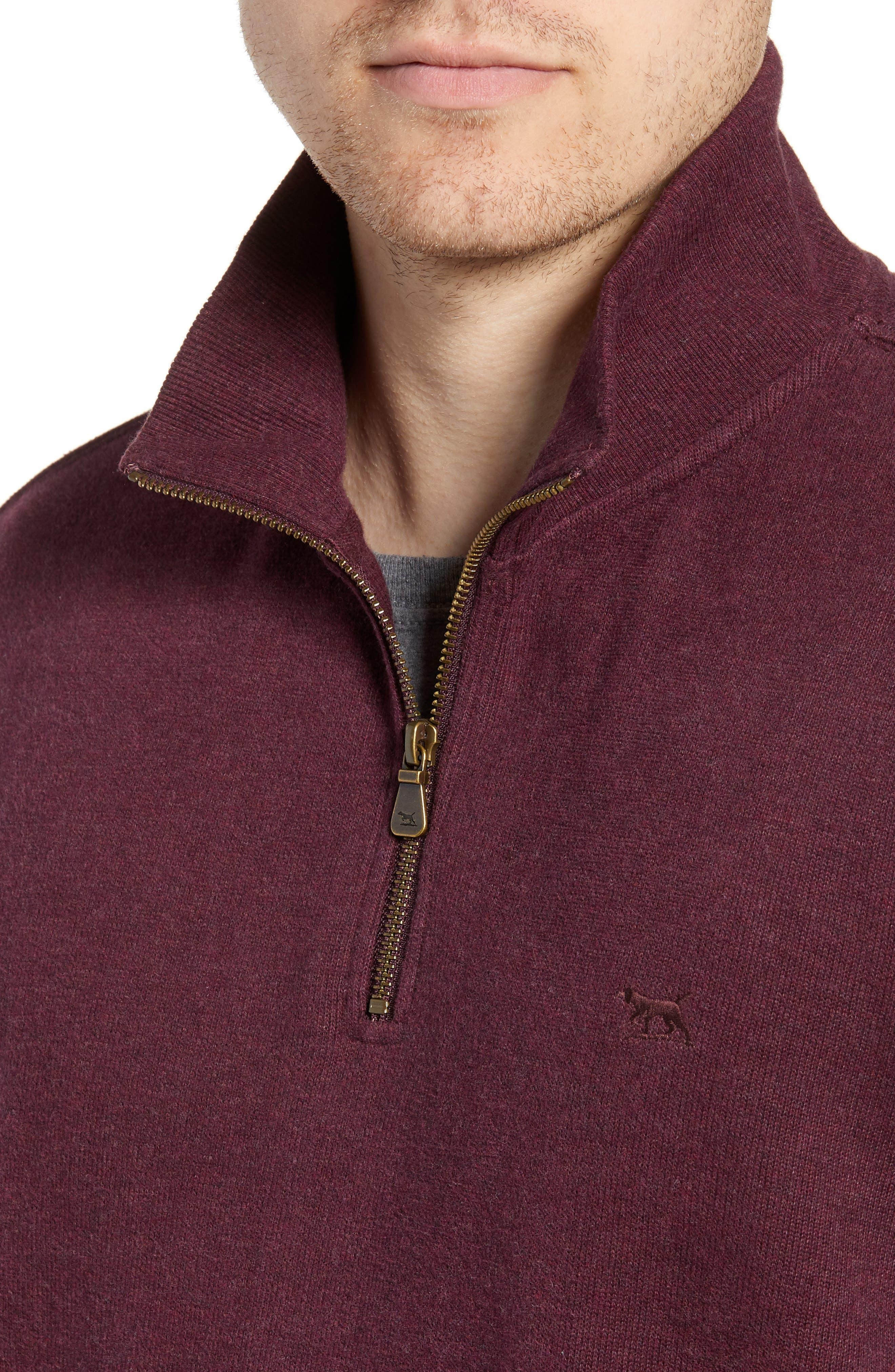 RODD & GUNN, Alton Ave Regular Fit Pullover Sweatshirt, Alternate thumbnail 4, color, BURGUNDY