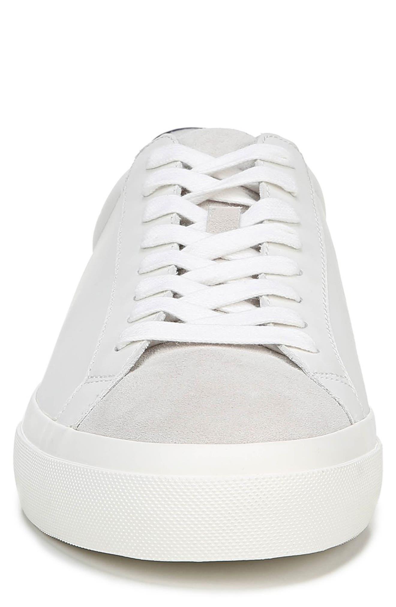 VINCE, Fulton Sneaker, Alternate thumbnail 4, color, WHITE