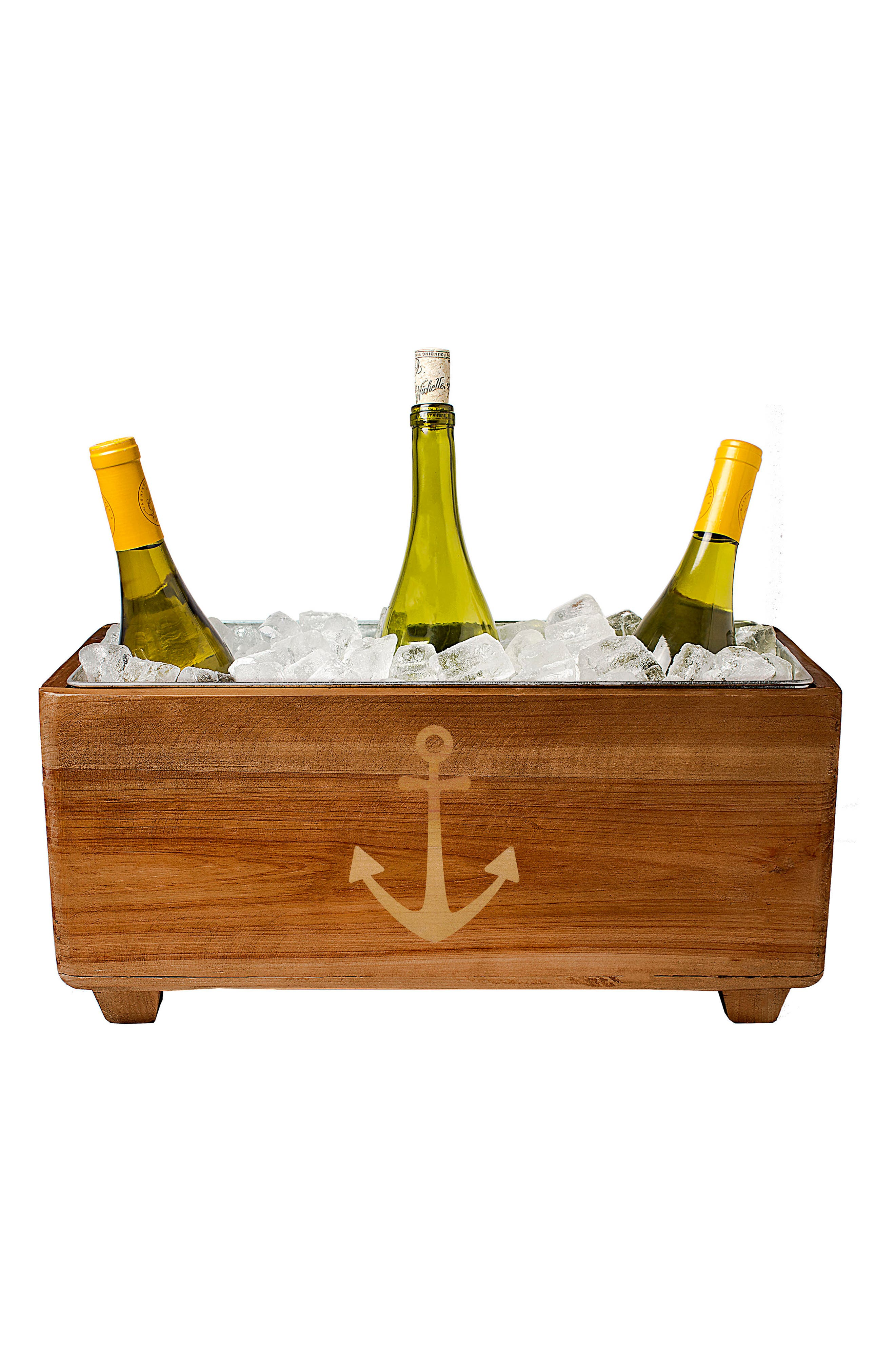 CATHY'S CONCEPTS, Wooden Wine Trough, Main thumbnail 1, color, ANCHOR