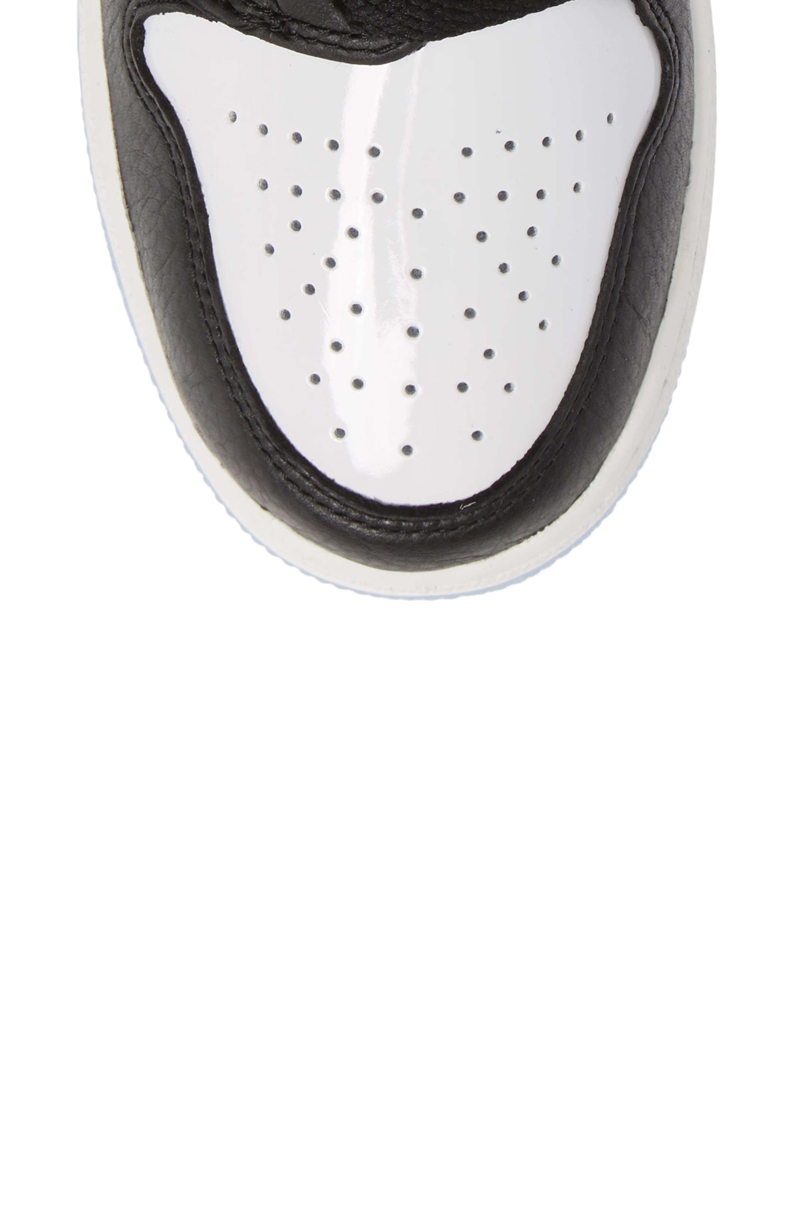 NIKE, Air Jordan 1 Rebel XX High Top Sneaker, Alternate thumbnail 5, color, BLACK/ BLACK