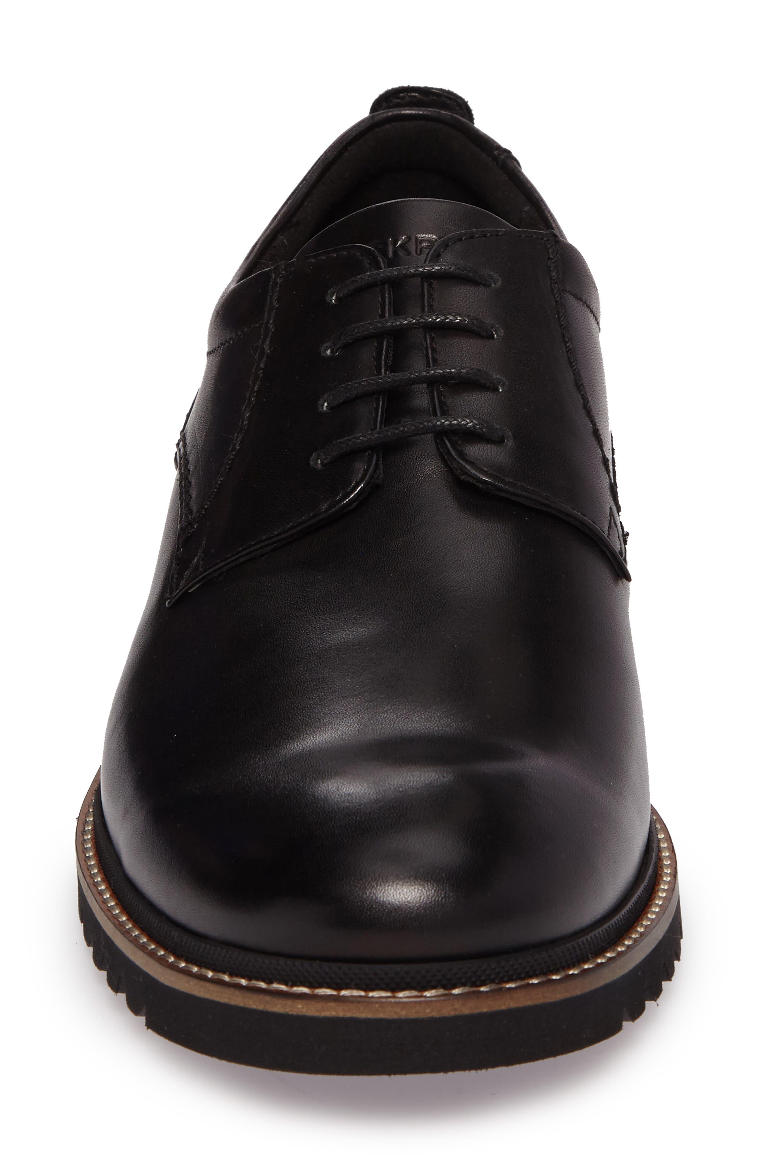 ROCKPORT, Marshall Buck Shoe, Alternate thumbnail 4, color, BLACK LEATHER