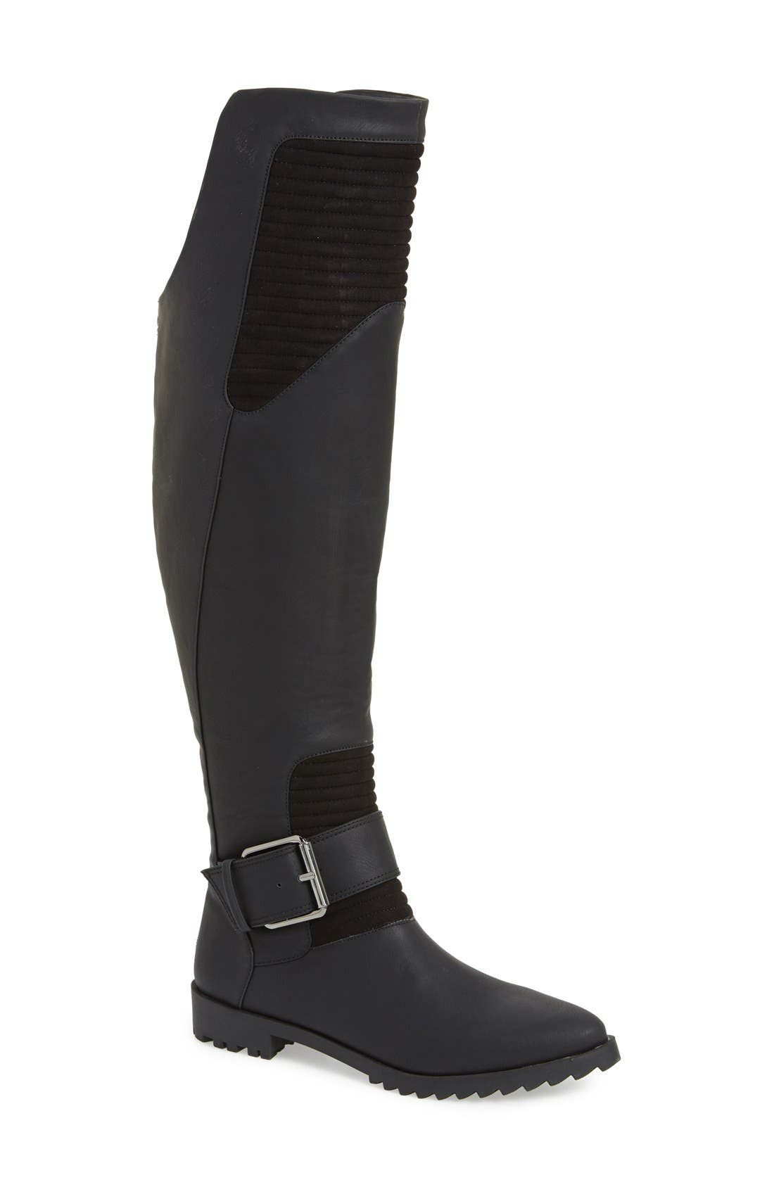 GX BY GWEN STEFANI, 'Toledo' Over the Knee Boot, Main thumbnail 1, color, 001