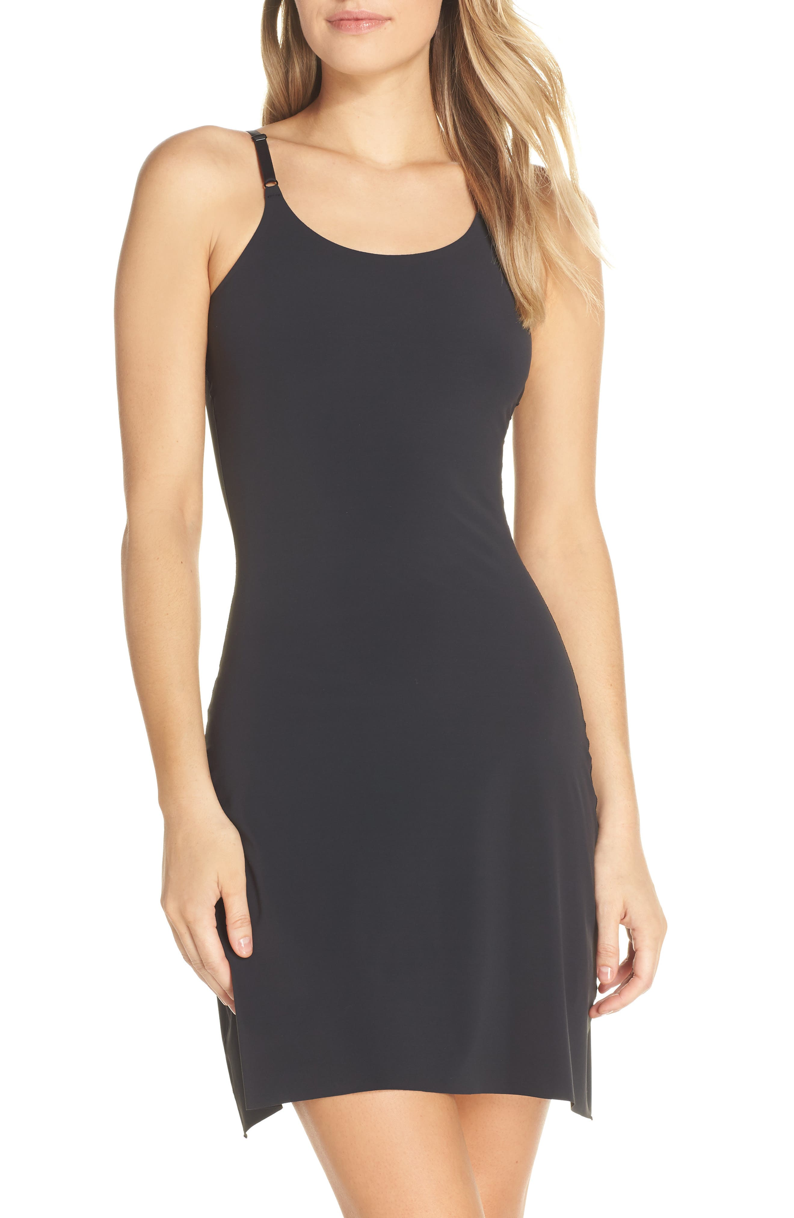 YUMMIE, Smooth Solutions A-Line Slip, Main thumbnail 1, color, BLACK