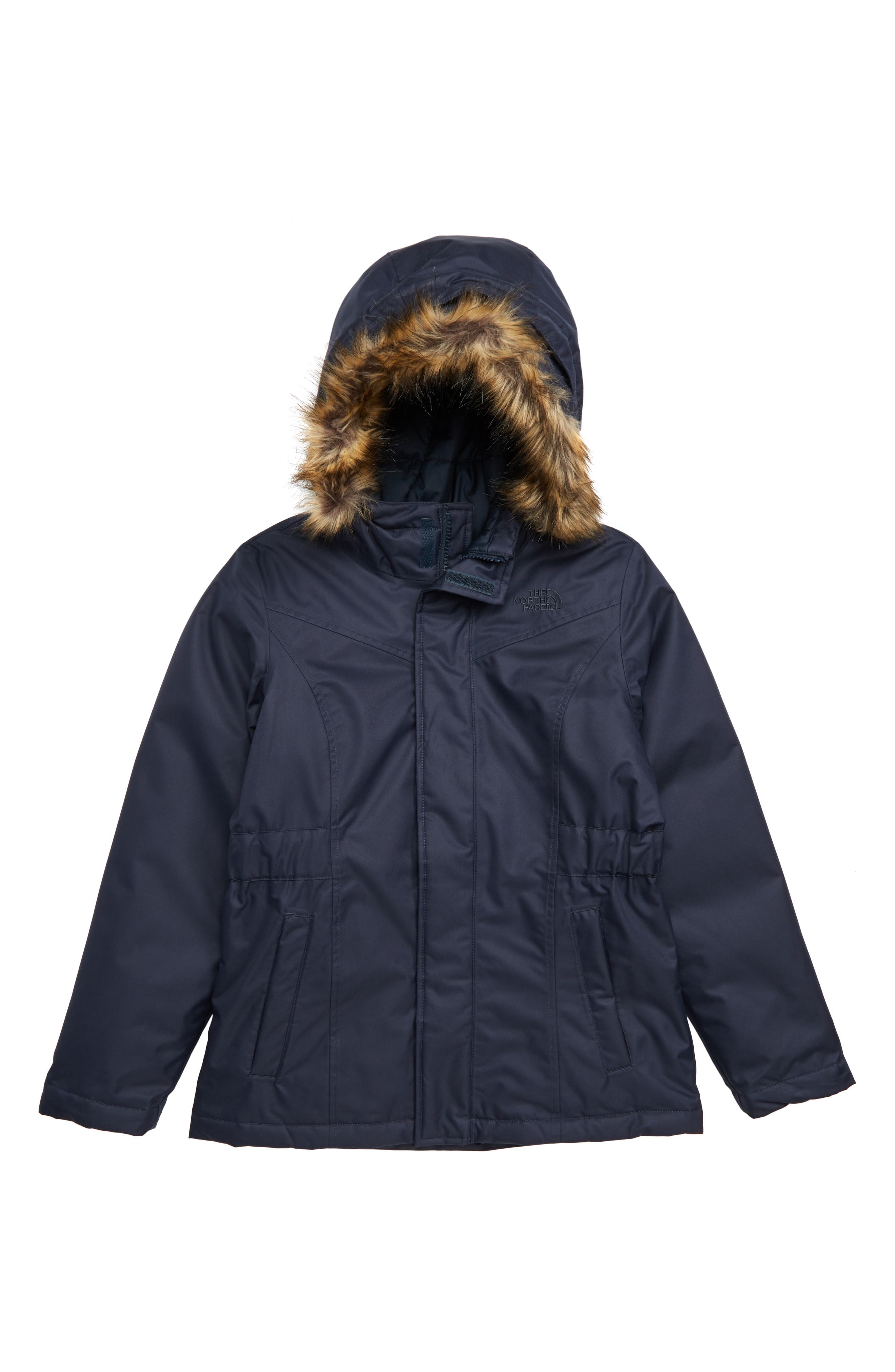 THE NORTH FACE Greenland Waterproof 550-Fill-Power Down Parka, Main, color, URBAN NAVY