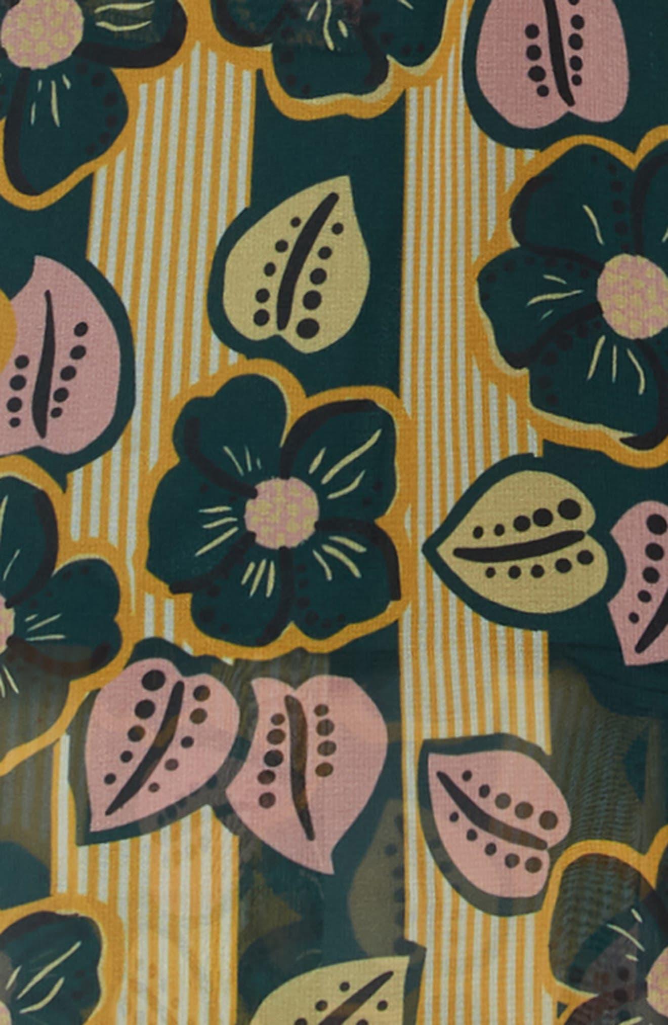 SCOTCH R'BELLE, Floral Print Romper, Alternate thumbnail 2, color, 222 F
