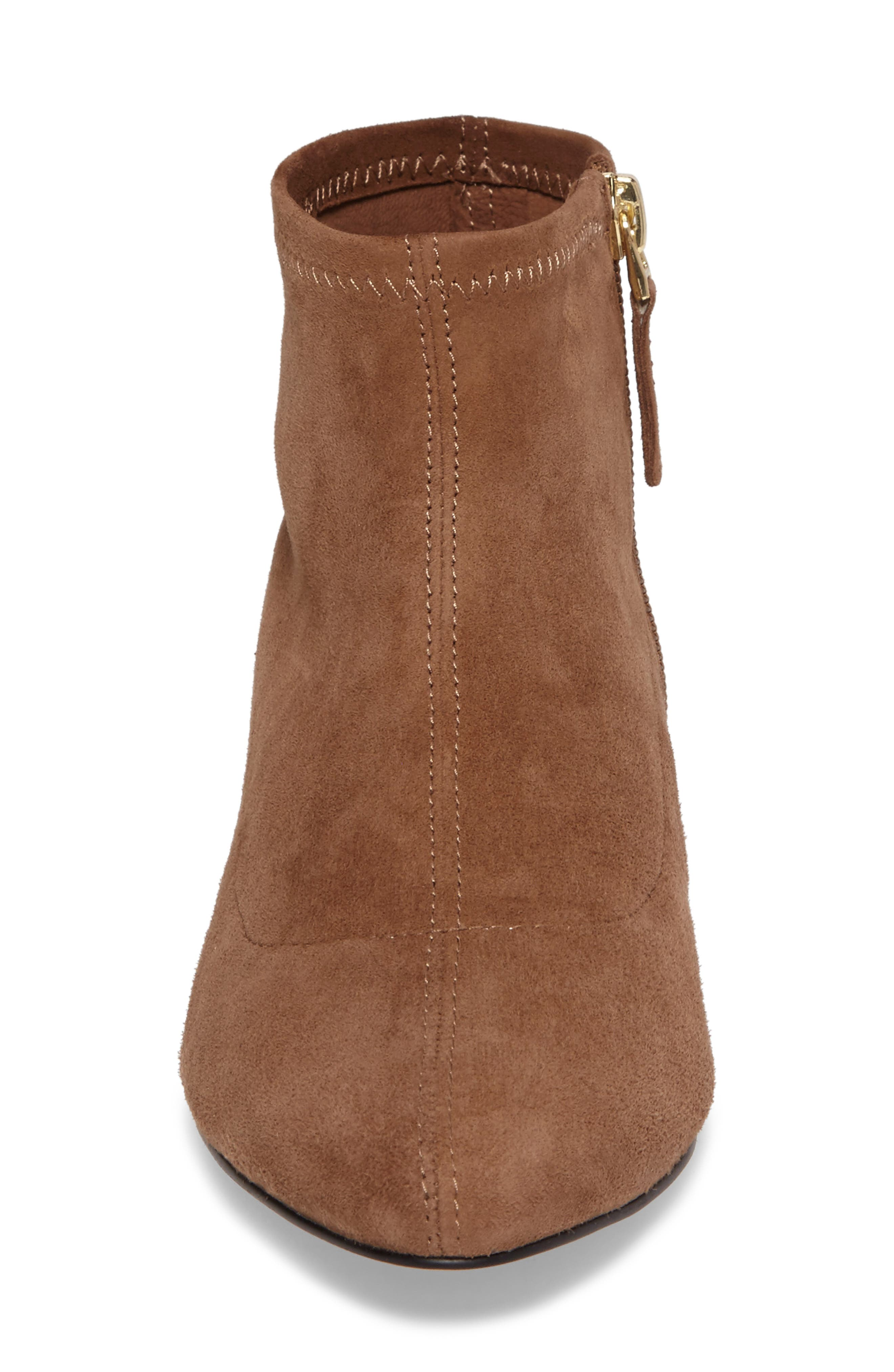 SUDINI, Aletta Bootie, Alternate thumbnail 4, color, TOBACCO SUEDE