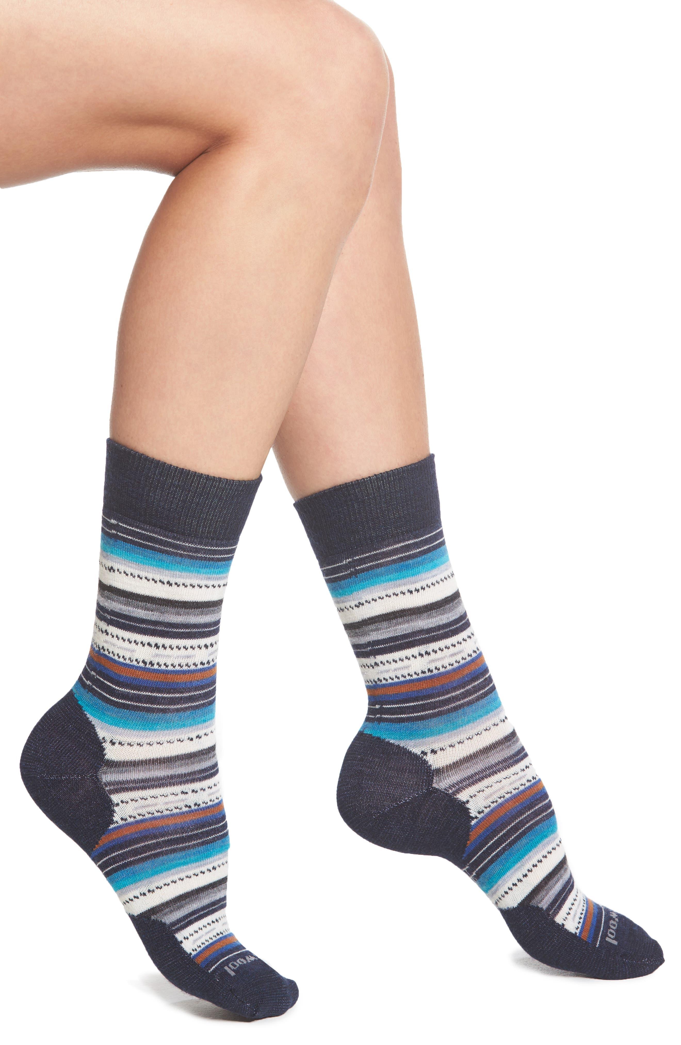 SMARTWOOL, Margarita Crew Socks, Main thumbnail 1, color, 410