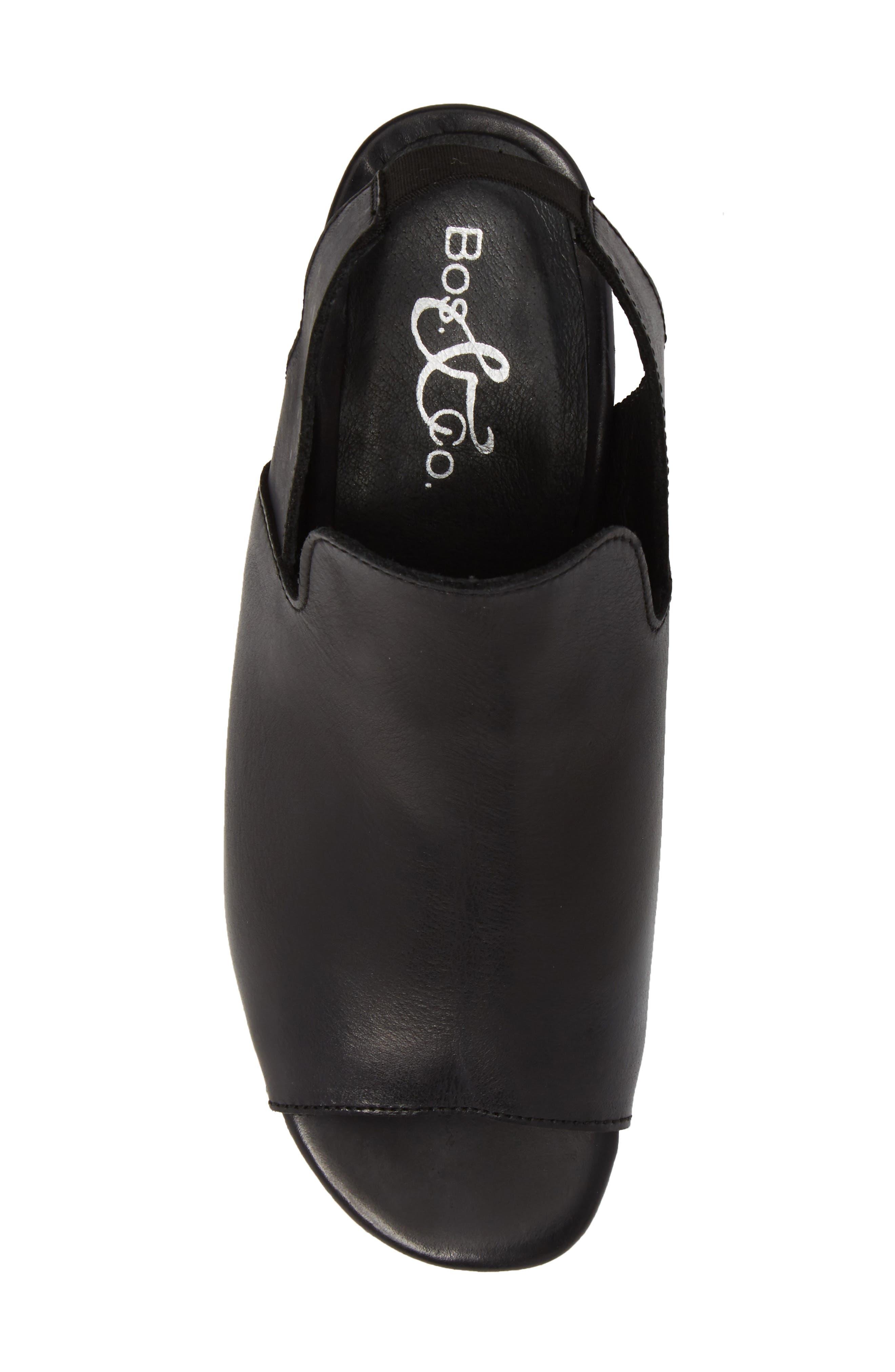 BOS. & CO., Zaire Slingback Sandal, Alternate thumbnail 5, color, BLACK GLAMOUR LEATHER