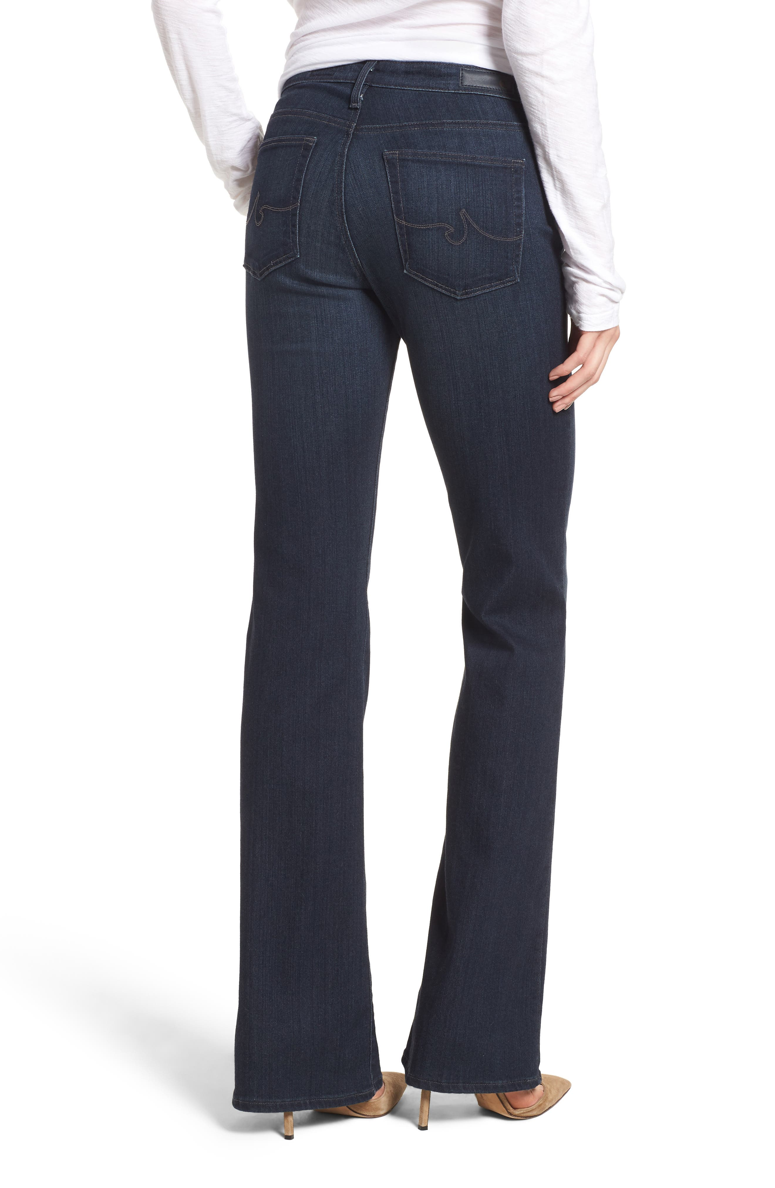 AG, 'The New Angel' Bootcut Jeans, Alternate thumbnail 2, color, BROOKS