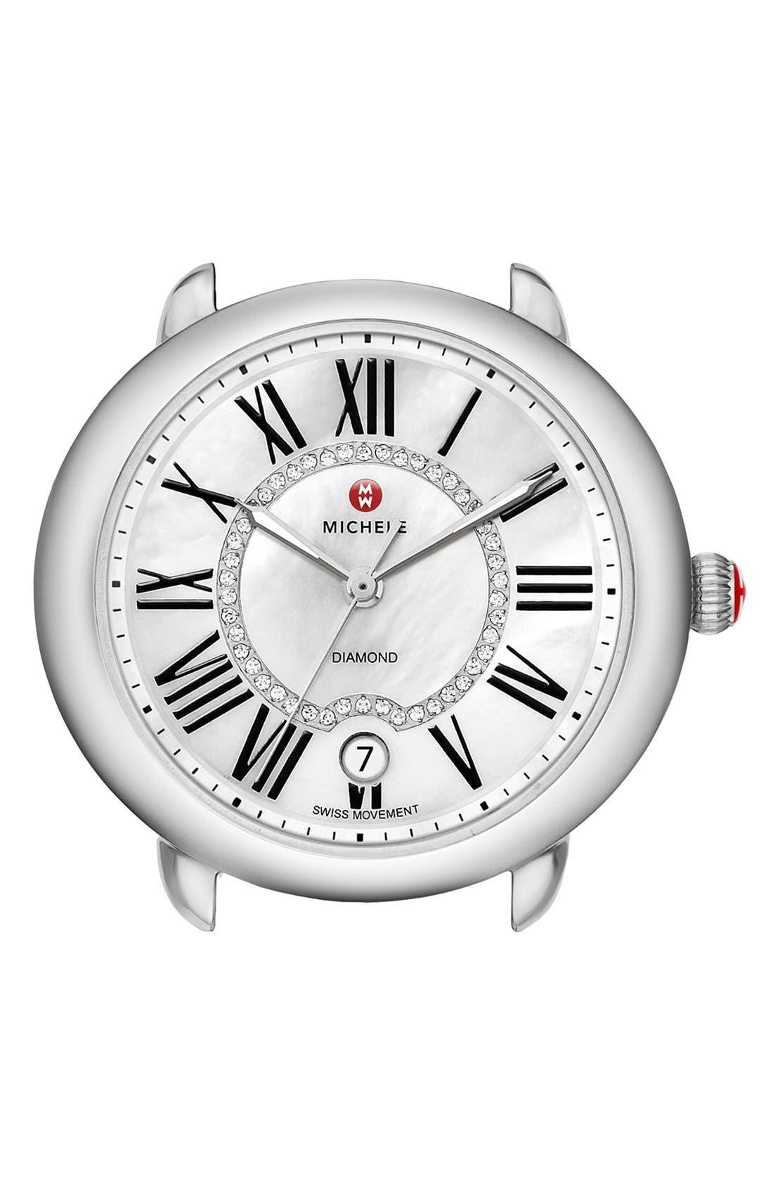 MICHELE, Serein 16 Diamond Dial Two-Tone Round Watch Head, 34mm x 36mm, Main thumbnail 1, color, 040