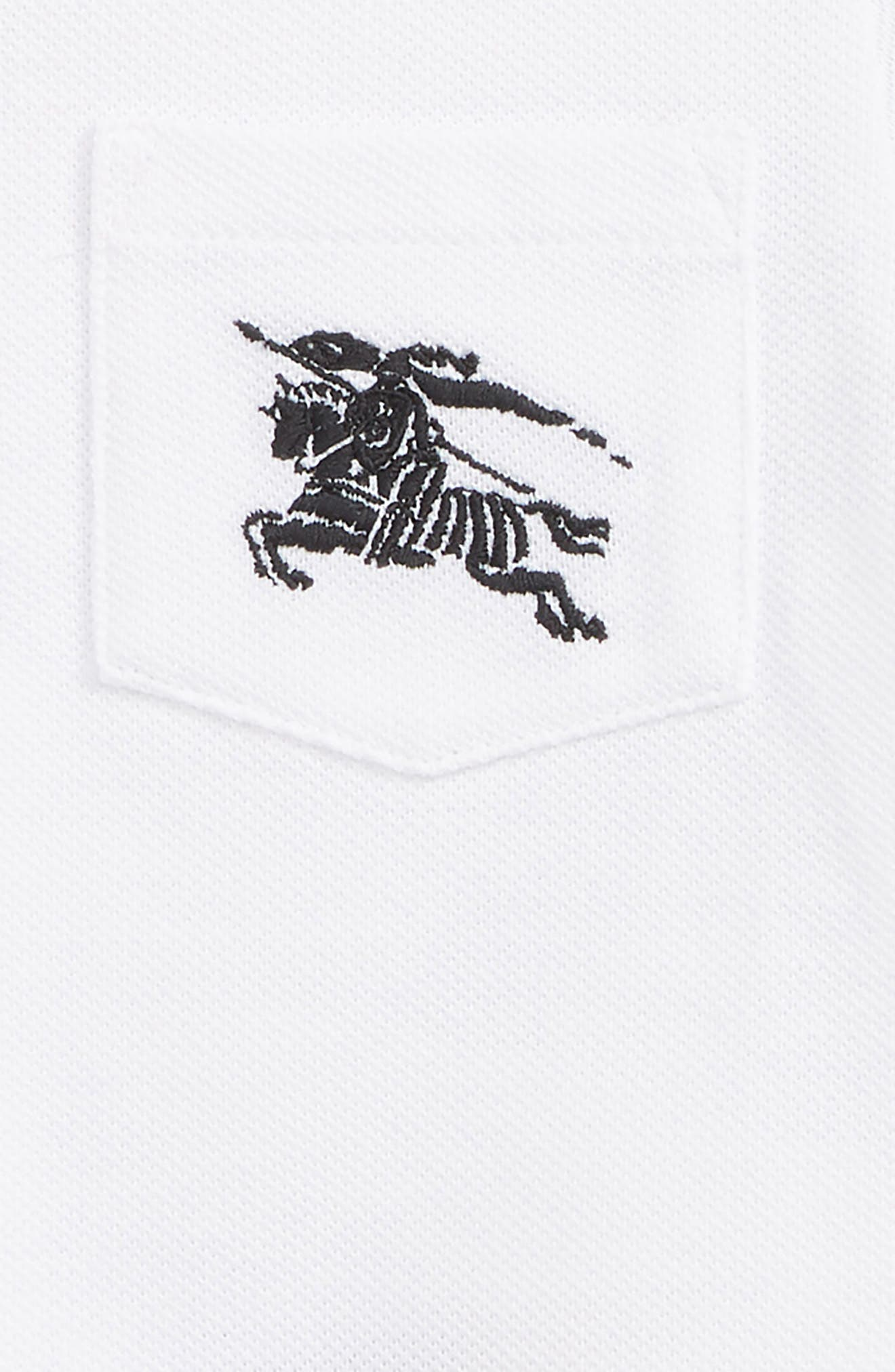 BURBERRY, Noel Polo, Alternate thumbnail 2, color, WHITE