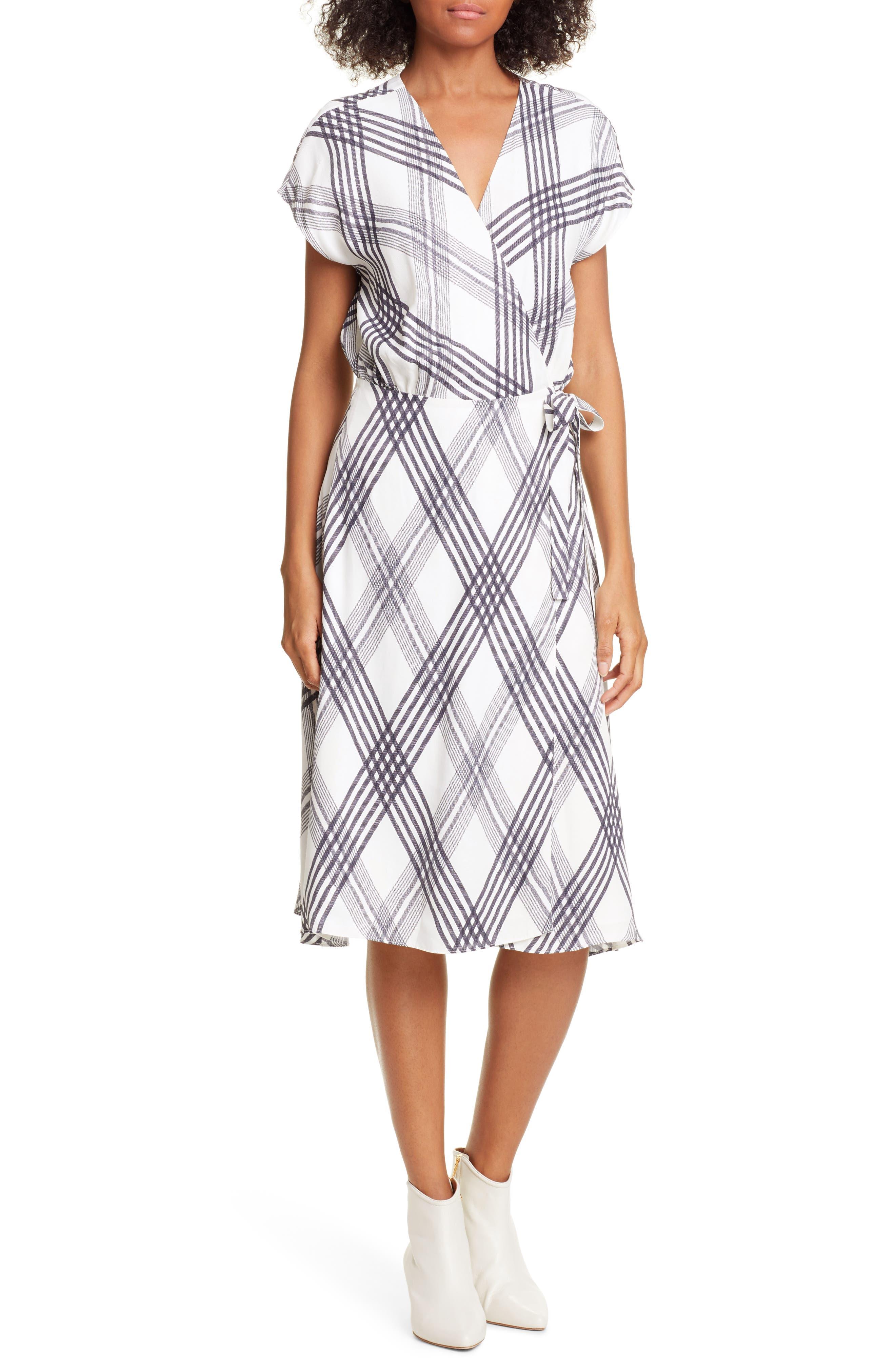 Joie Bethwyn B Wrap Dress, Ivory