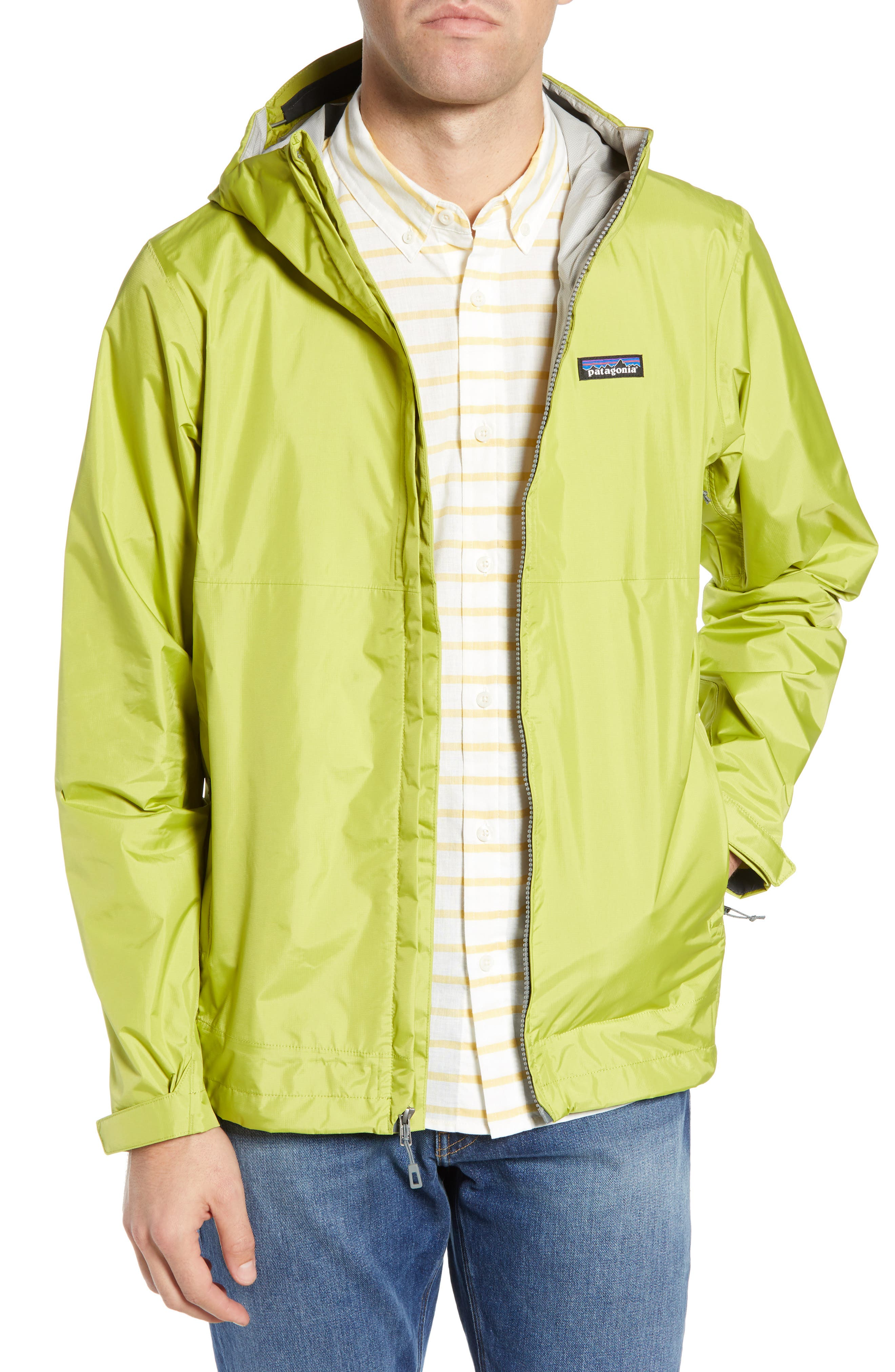 PATAGONIA Torrentshell Packable Rain Jacket, Main, color, FOLIOS GREEN