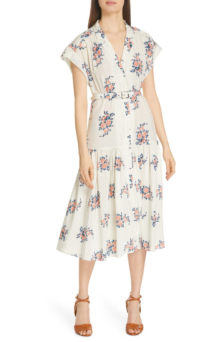Veronica Beard Dresses MEAGAN PRINT SILK MIDI DRESS