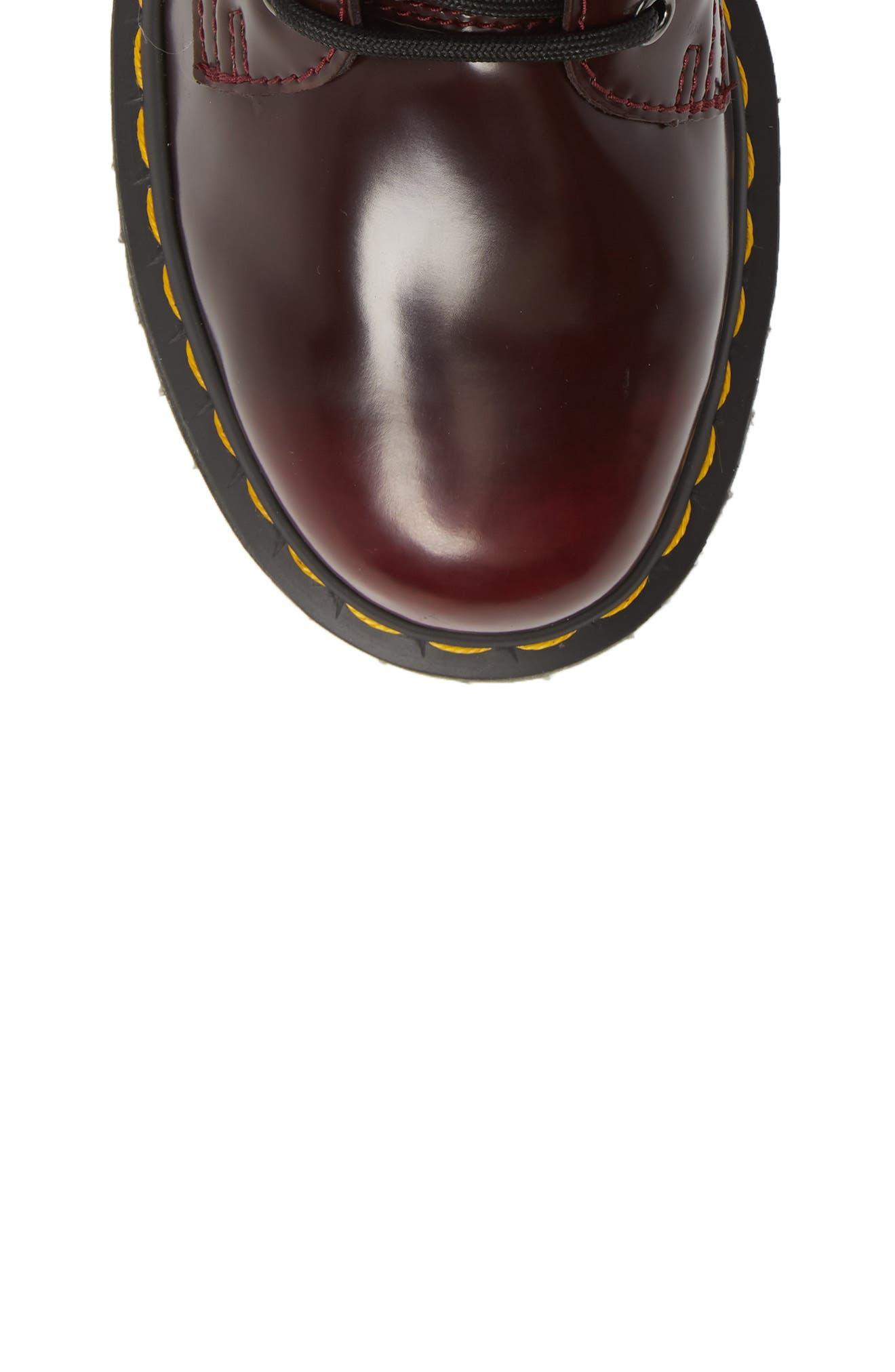 DR. MARTENS, Jadon Platform Boot, Alternate thumbnail 5, color, CHERRY RED