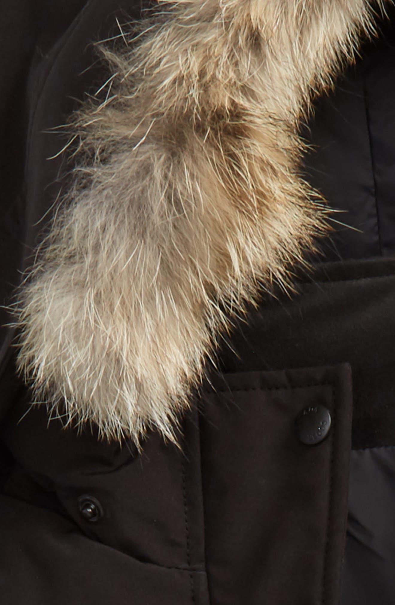 CANADA GOOSE, Juniper Down Parka with Genuine Coyote Fur Trim, Alternate thumbnail 2, color, BLACK
