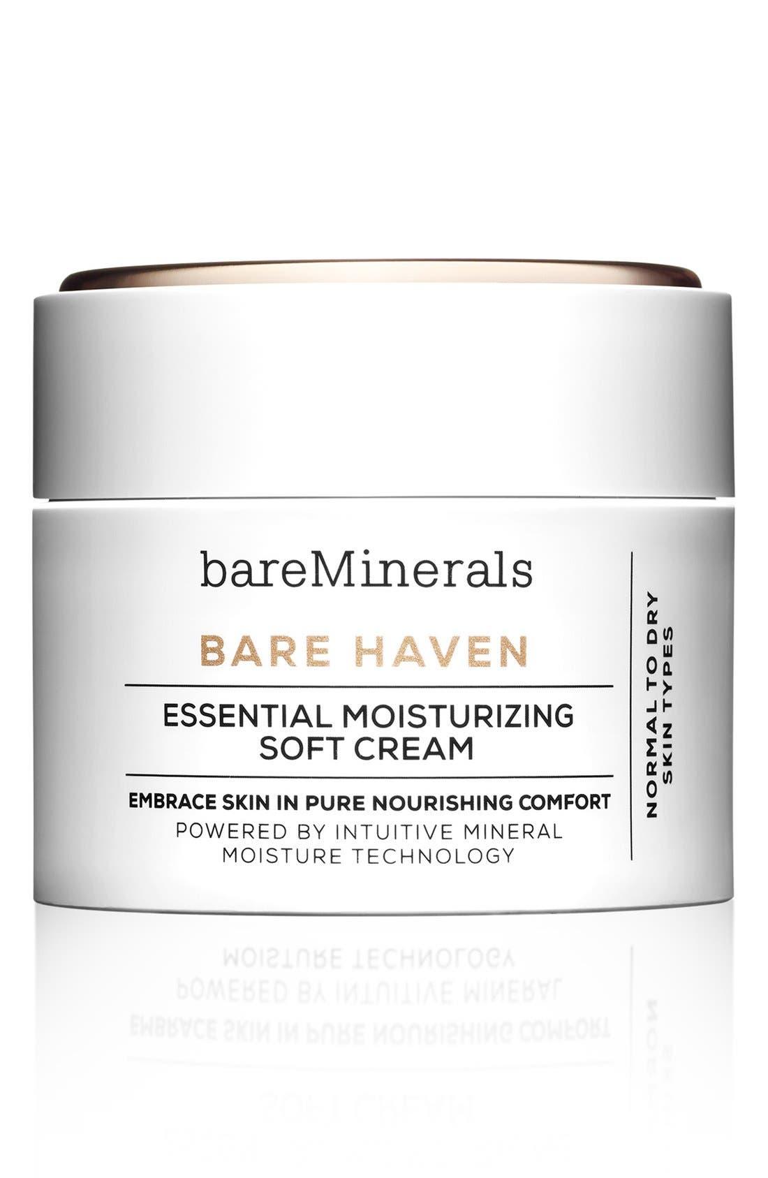 BAREMINERALS<SUP>®</SUP>, Bare Haven Essential Moisturizing Soft Cream, Main thumbnail 1, color, NO COLOR