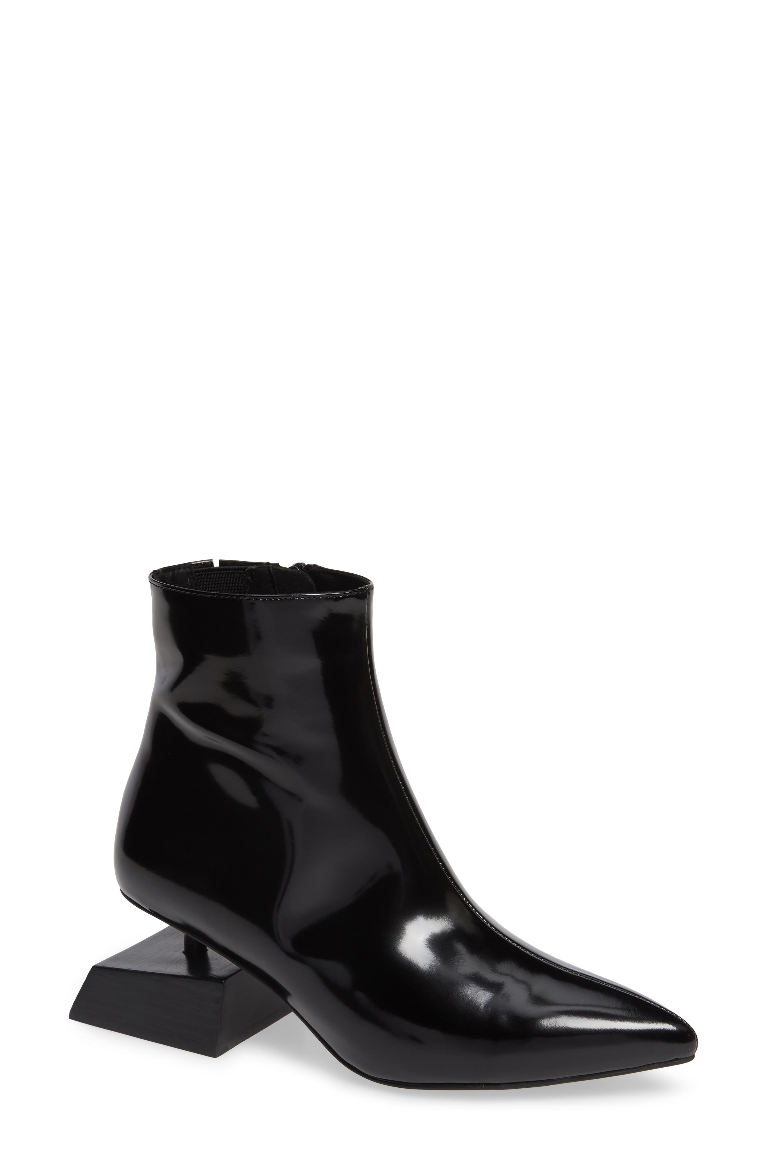 JEFFREY CAMPBELL, Anatomic Boot, Main thumbnail 1, color, BLACK LEATHER
