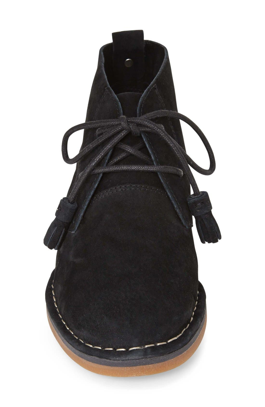 HUSH PUPPIES<SUP>®</SUP>, Cyra Catelyn Chukka Boot, Alternate thumbnail 2, color, BLACK SUEDE