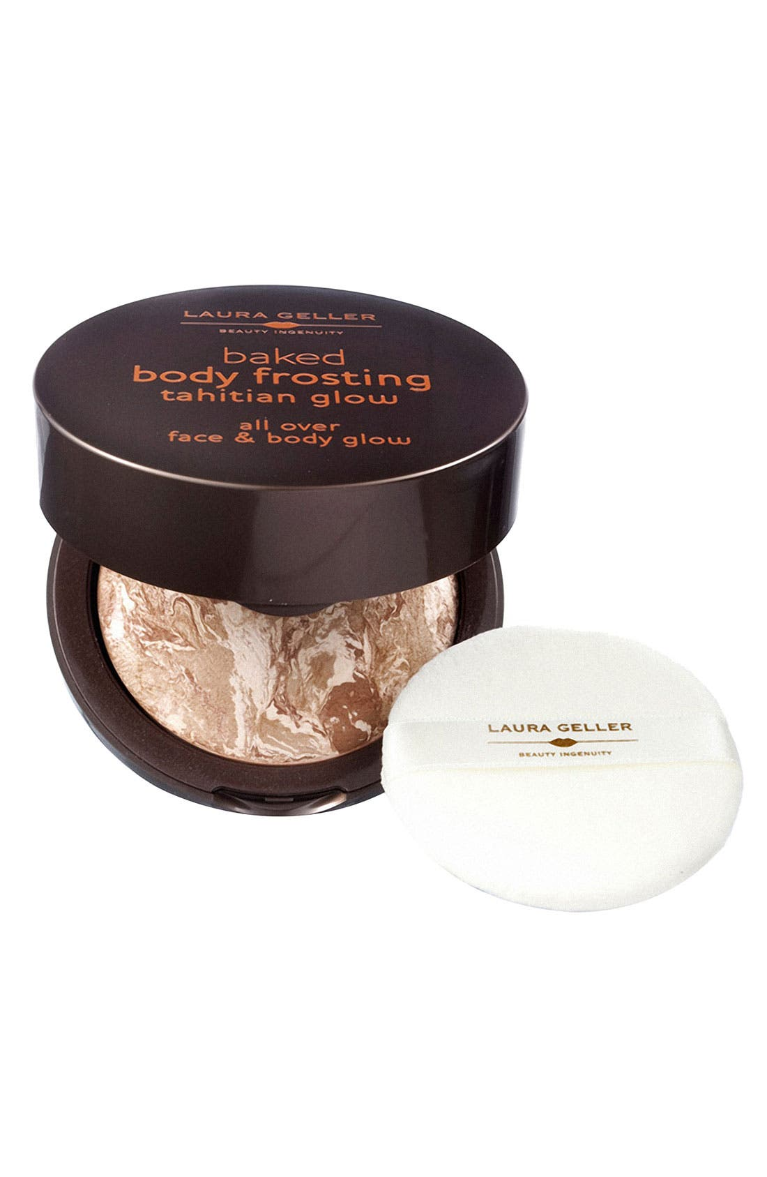LAURA GELLER BEAUTY, Baked Body Frosting - Tahitian Glow All Over Face & Body Glow, Main thumbnail 1, color, 201