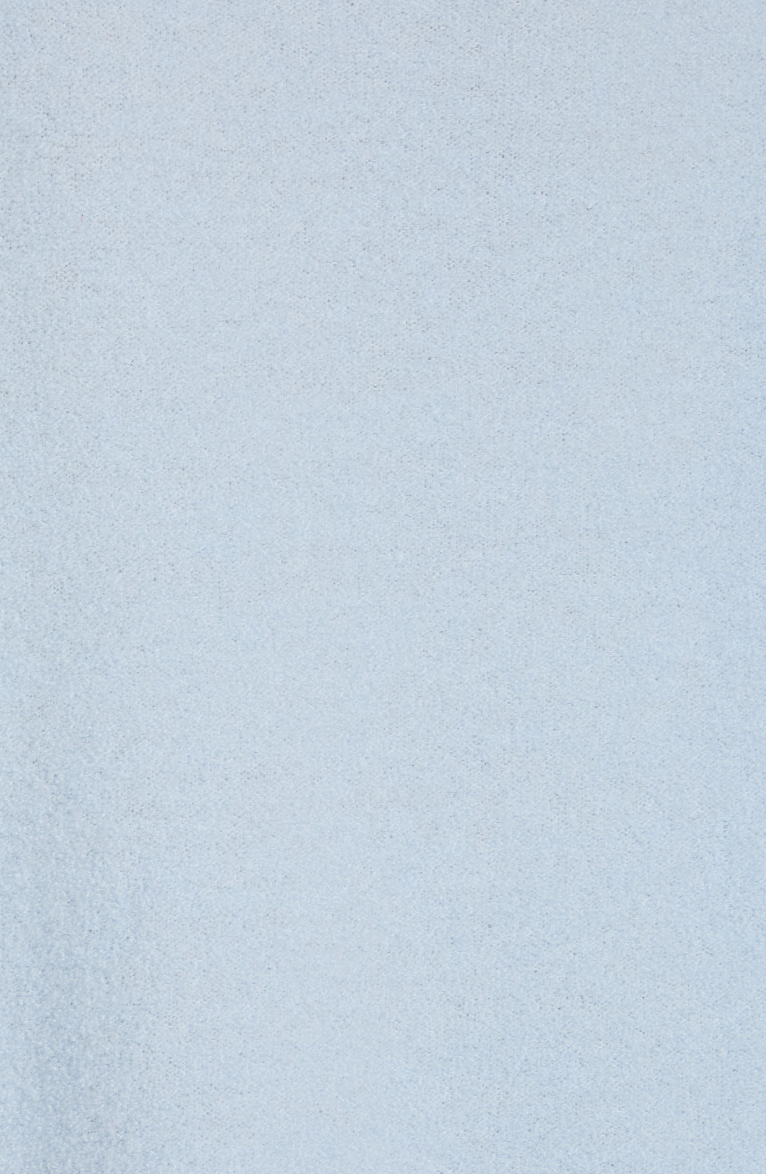 NORDSTROM SIGNATURE, Cashmere Blend Bouclé Sweater, Alternate thumbnail 5, color, BLUE CASHMERE
