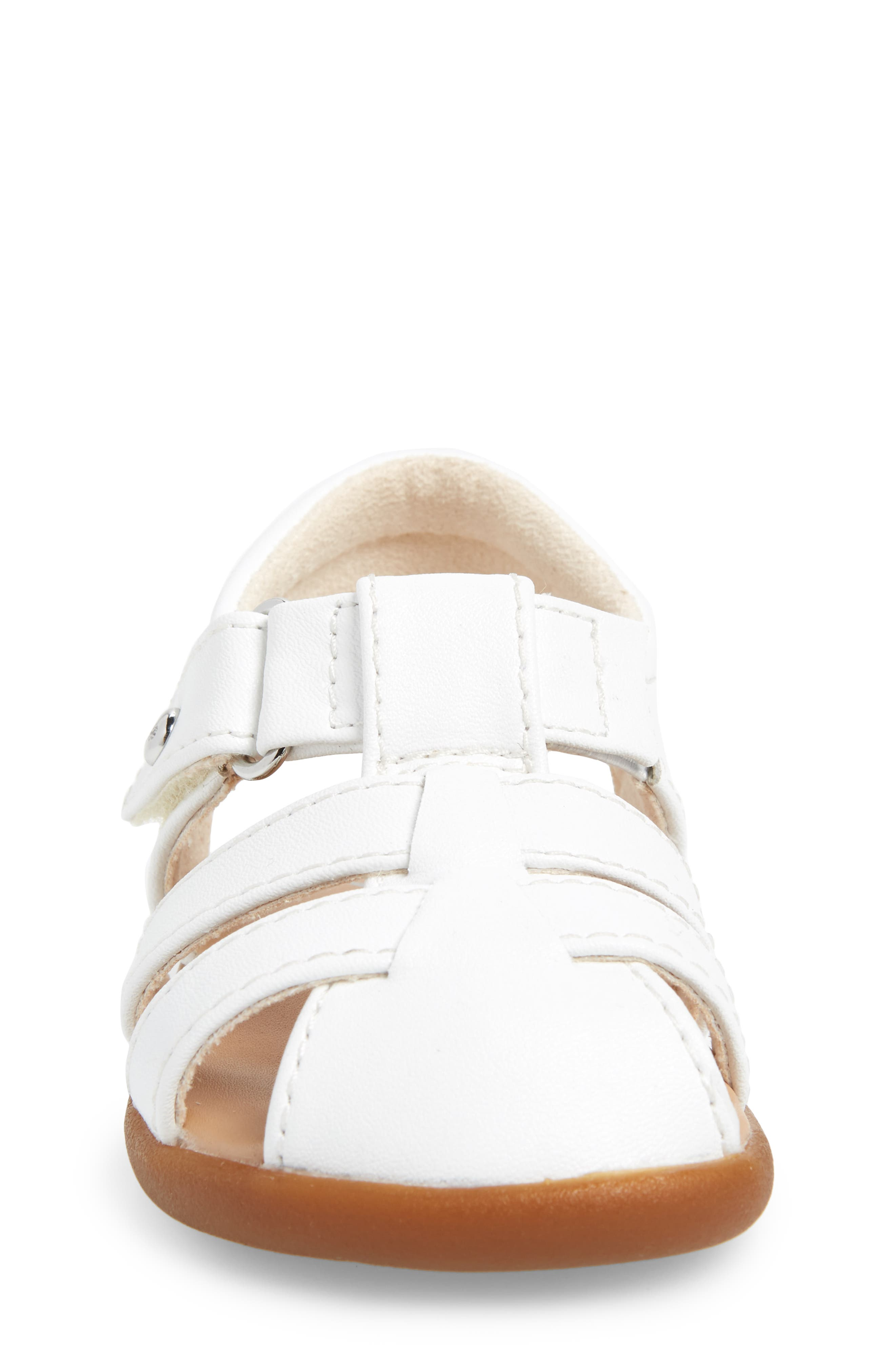 UGG<SUP>®</SUP>, Kolding Fisherman Sandal, Alternate thumbnail 4, color, WHITE
