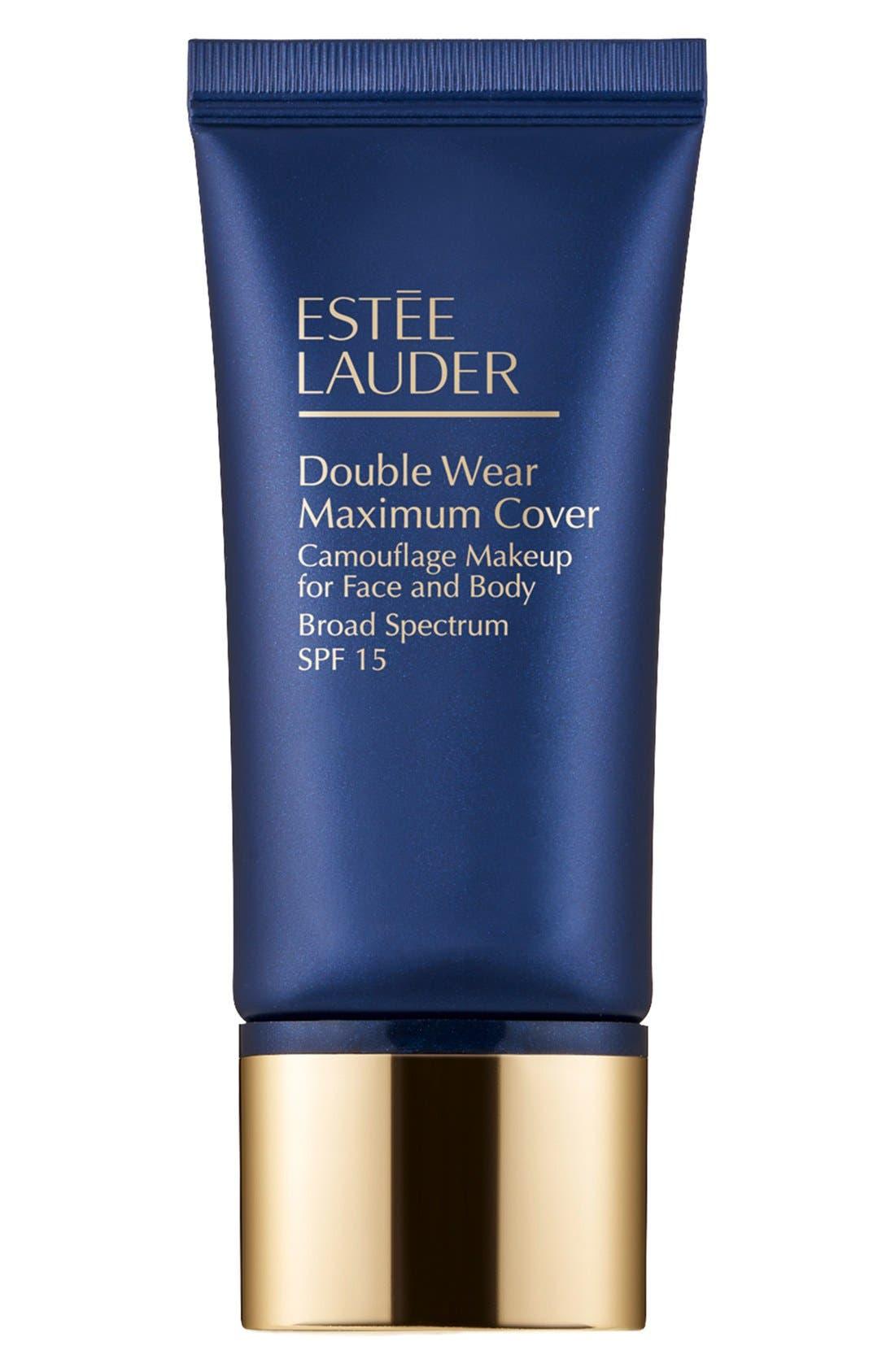 ESTÉE LAUDER, Double Wear Maximum Cover Camouflage Makeup for Face and Body SPF 15, Main thumbnail 1, color, MEDIUM DEEP