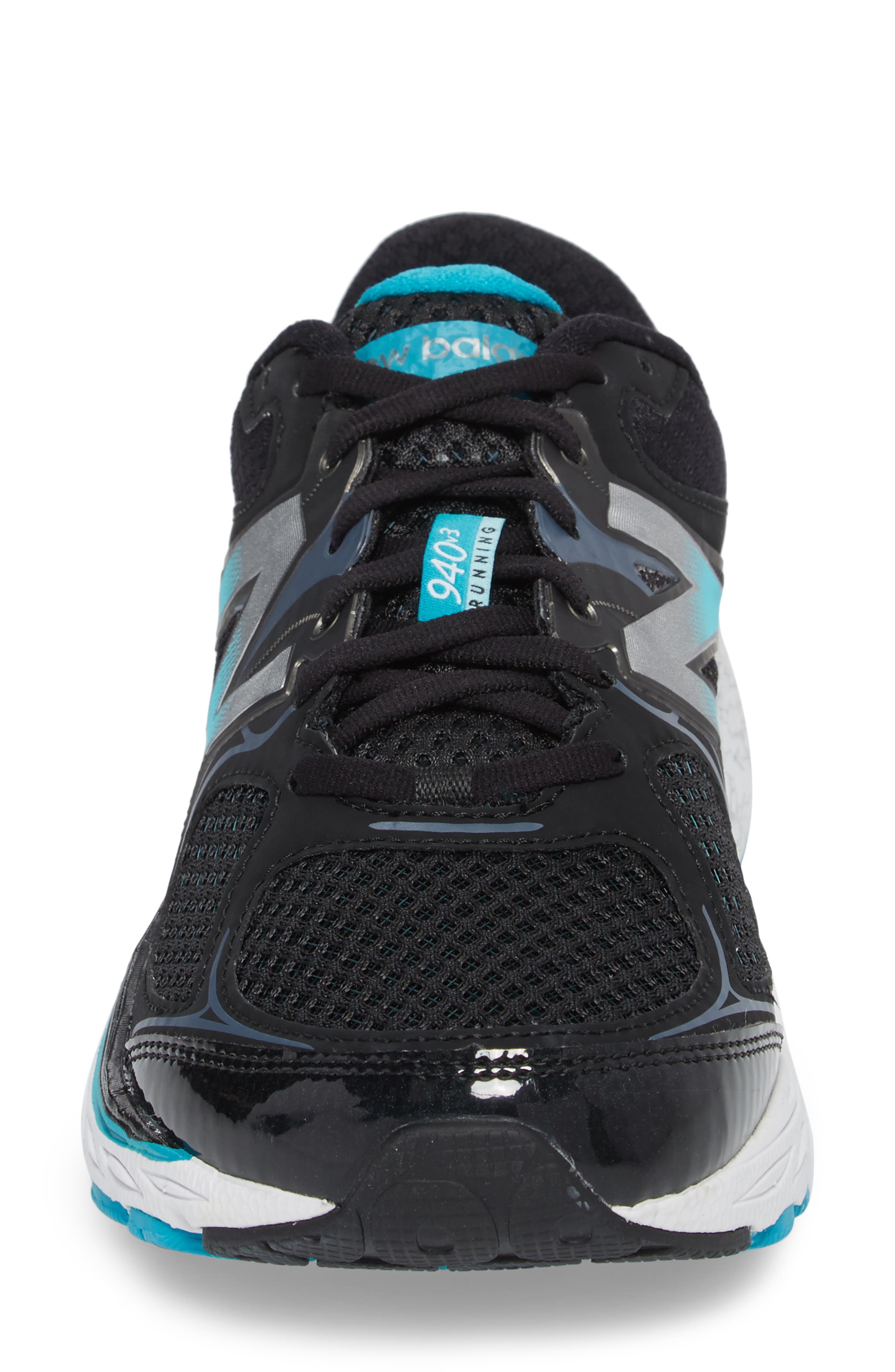 NEW BALANCE, 940v3 Running Shoe, Alternate thumbnail 4, color, BLACK/ BLUE