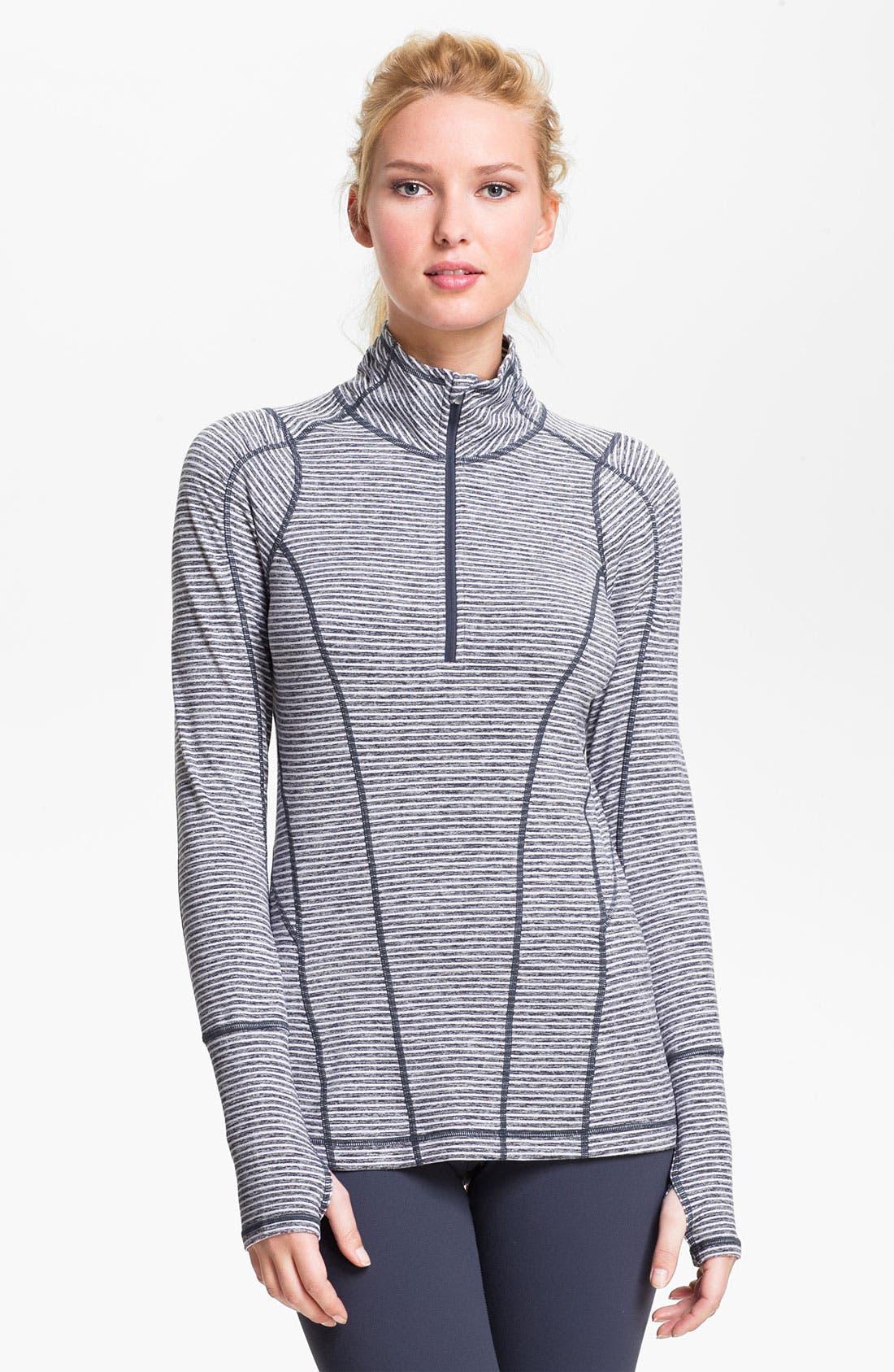 ZELLA 'Good Sport' Stripe Half Zip Top, Main, color, 020