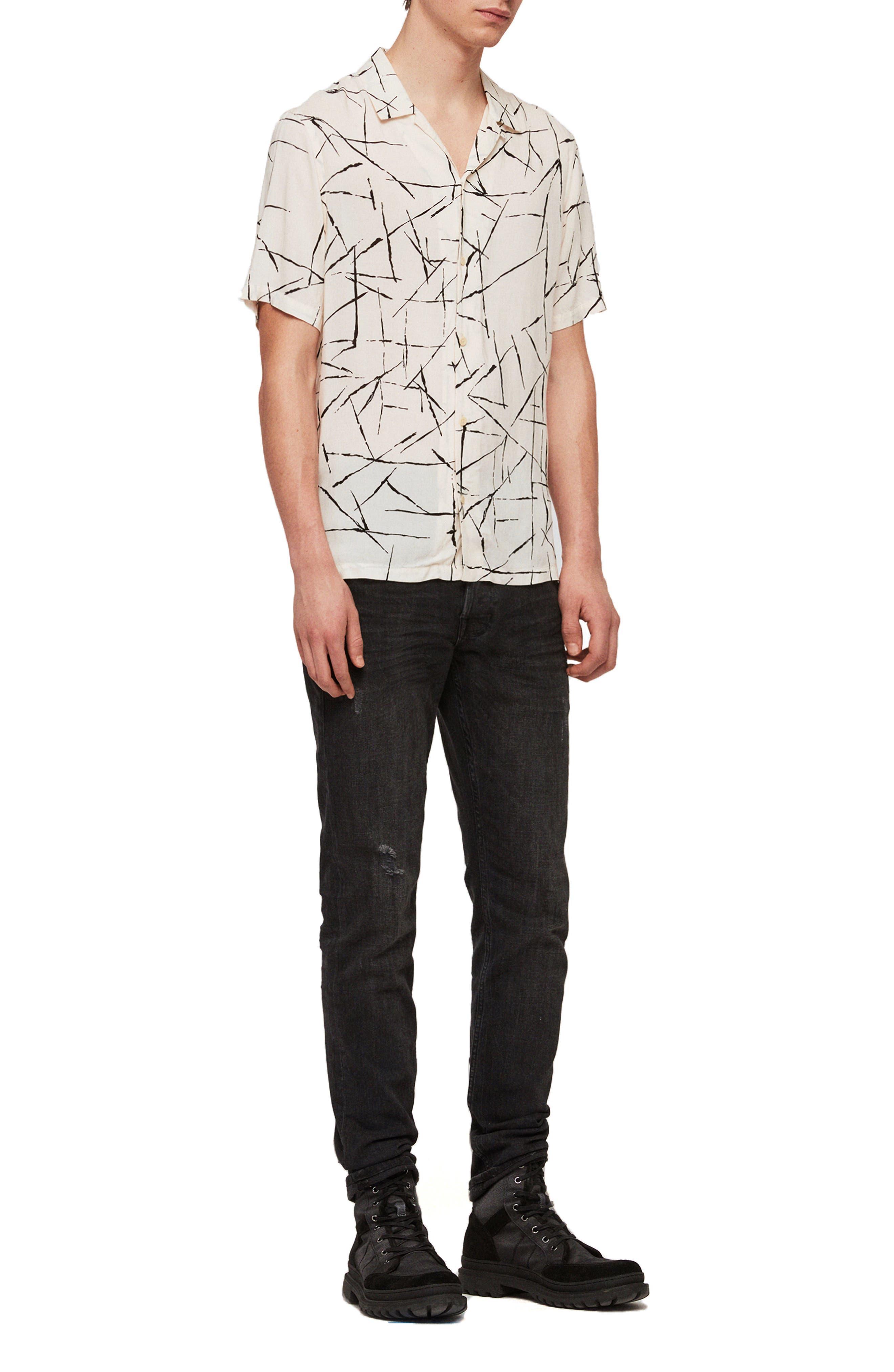 ALLSAINTS, Burma Classic Shirt, Alternate thumbnail 7, color, ECRU WHITE
