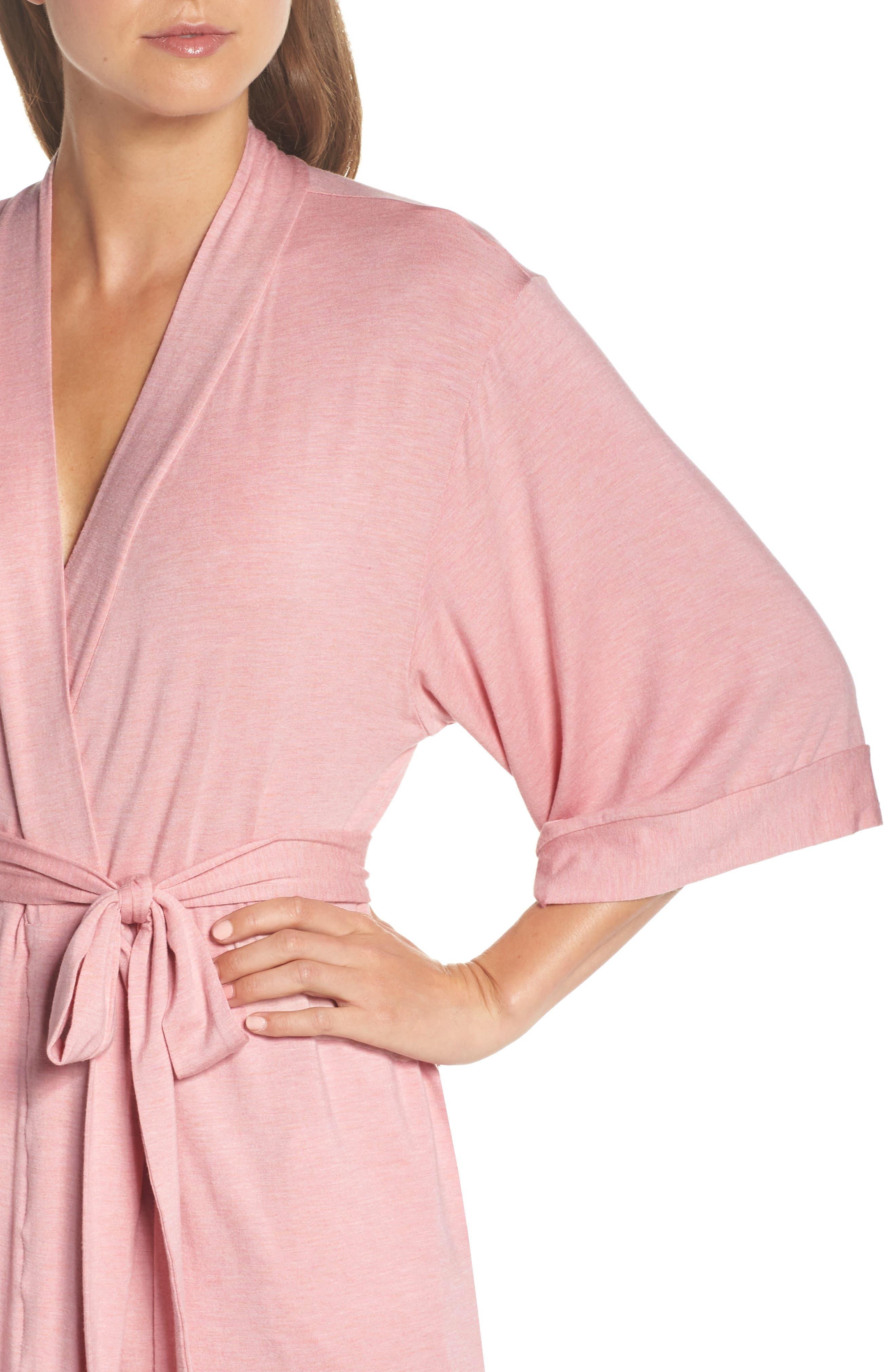 PAPINELLE, Short Robe, Alternate thumbnail 4, color, VINTAGE PINK