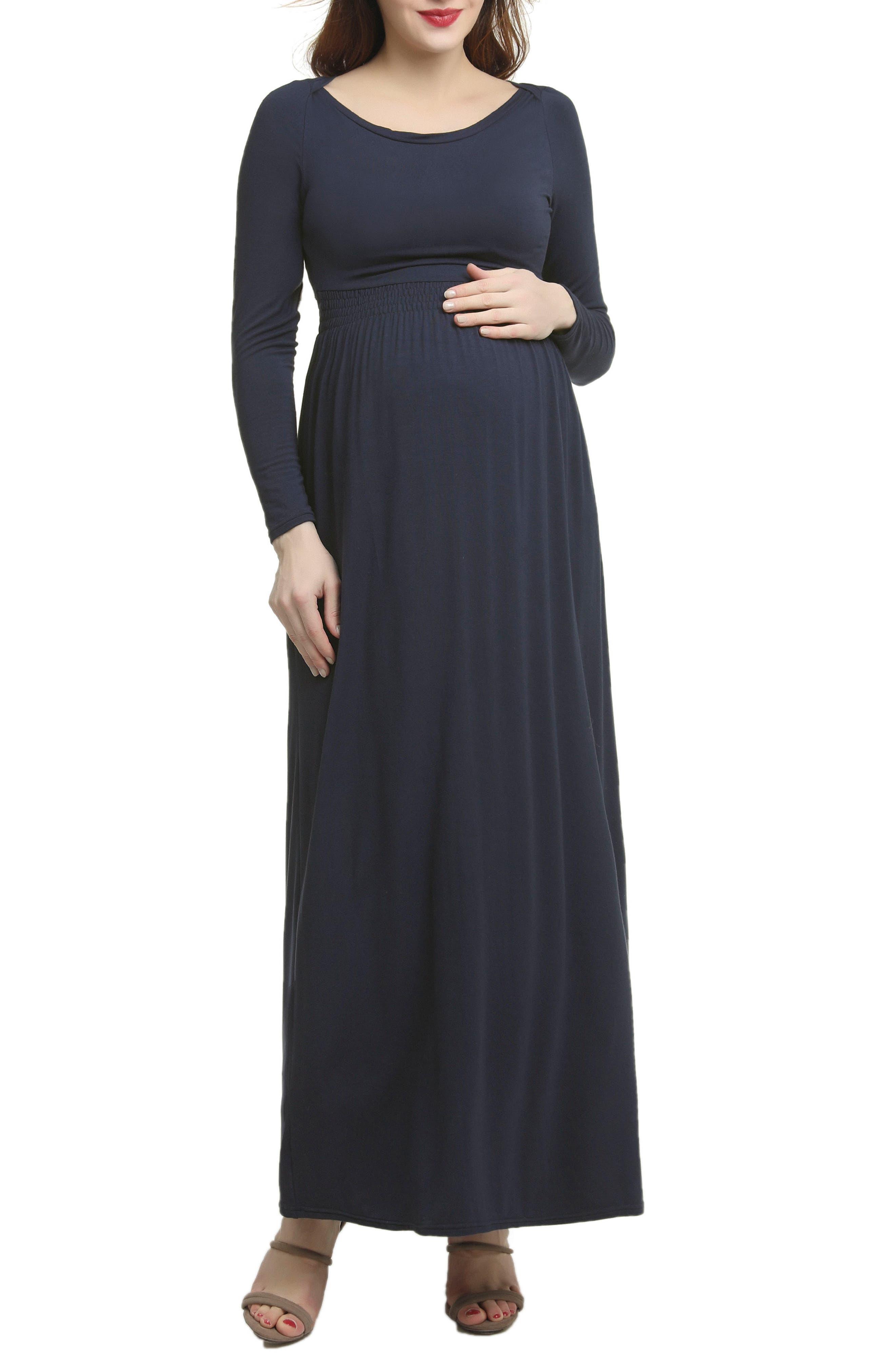 Kimi And Kai Jackie Empire Waist Maxi Dress, Blue