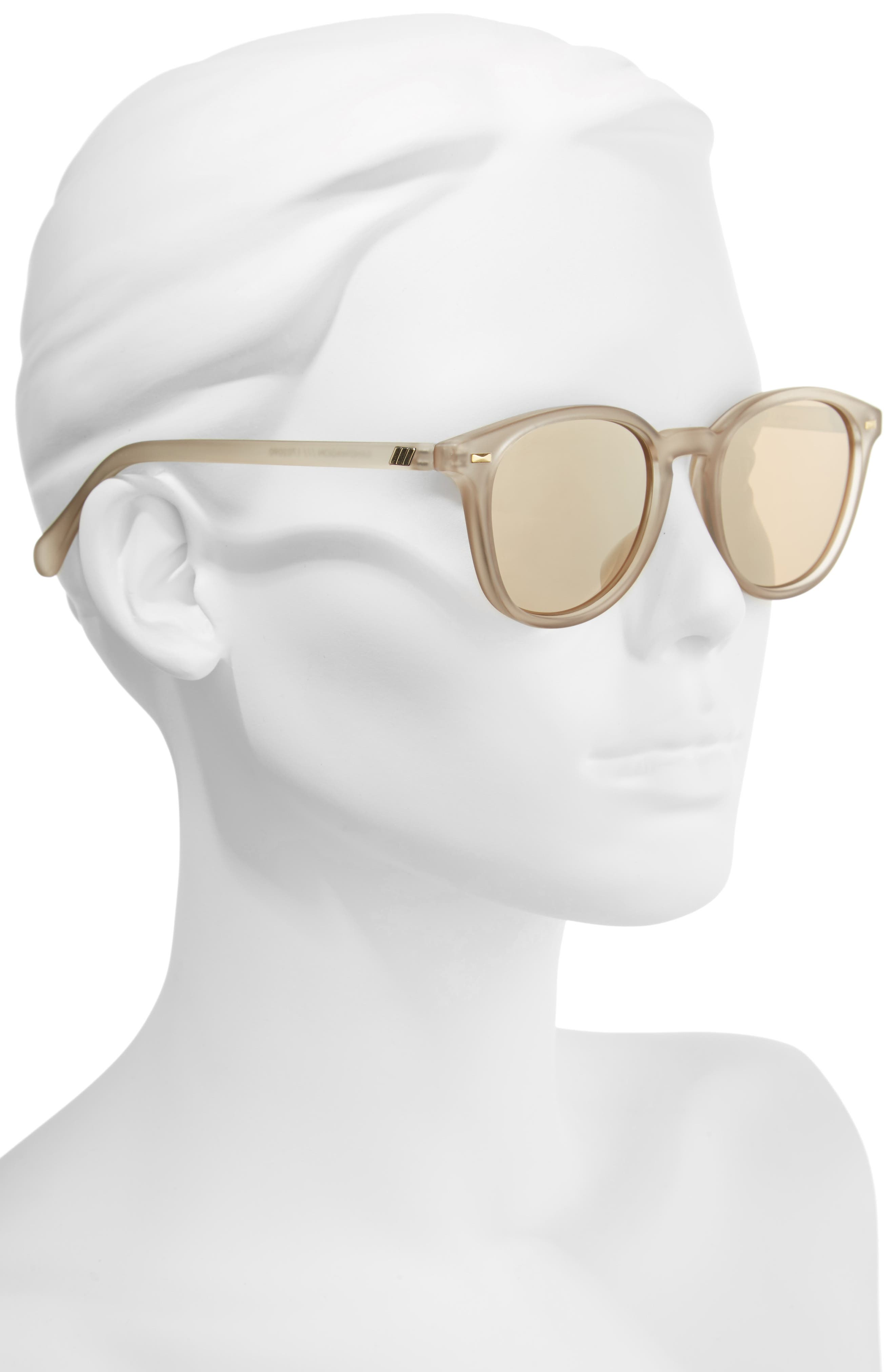 LE SPECS, Bandwagon 51mm Sunglasses, Alternate thumbnail 2, color, MATTE STONE