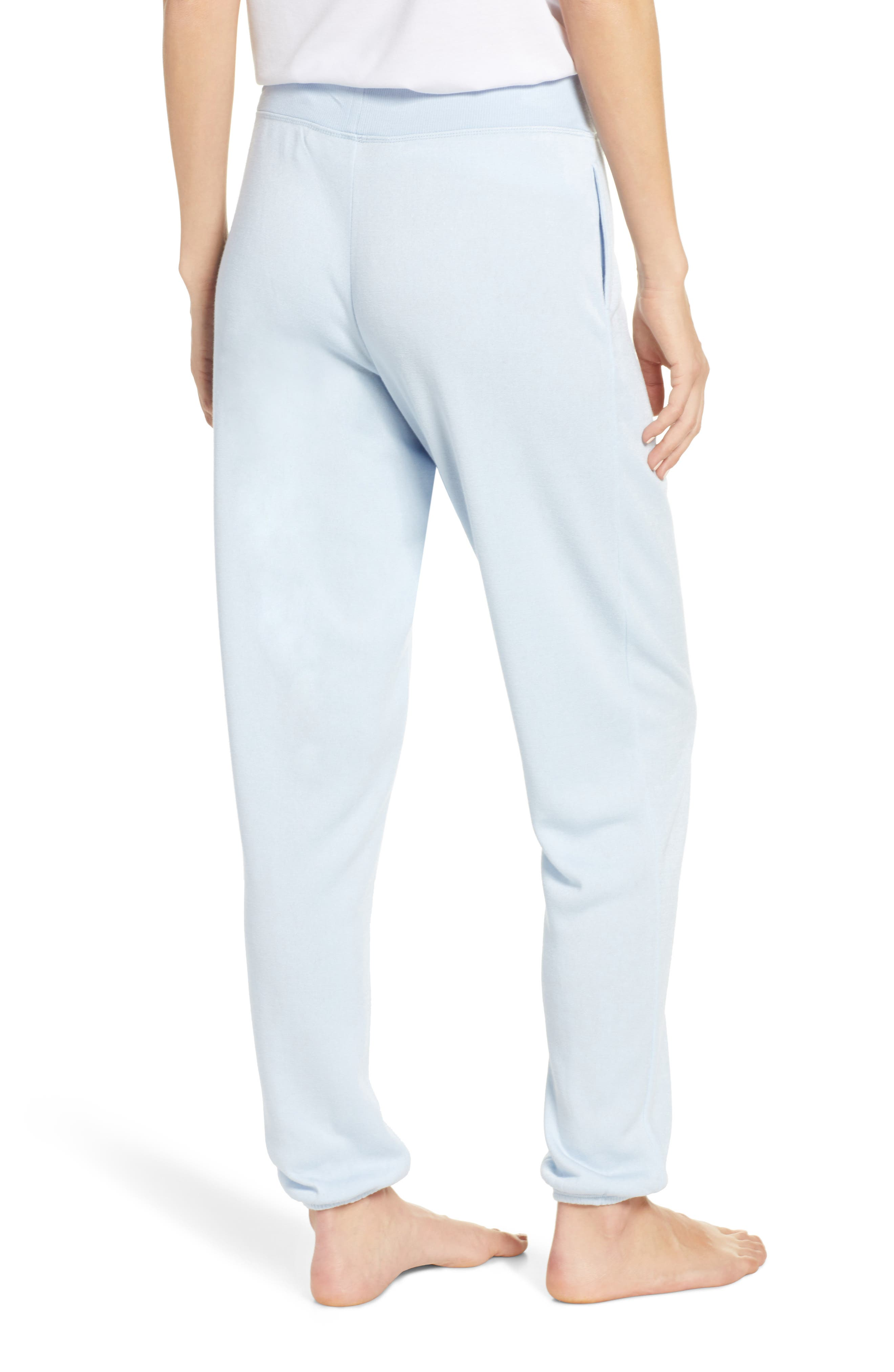 SOMETHING NAVY, Fleece Jogger Pants, Alternate thumbnail 2, color, BLUE SKYWAY