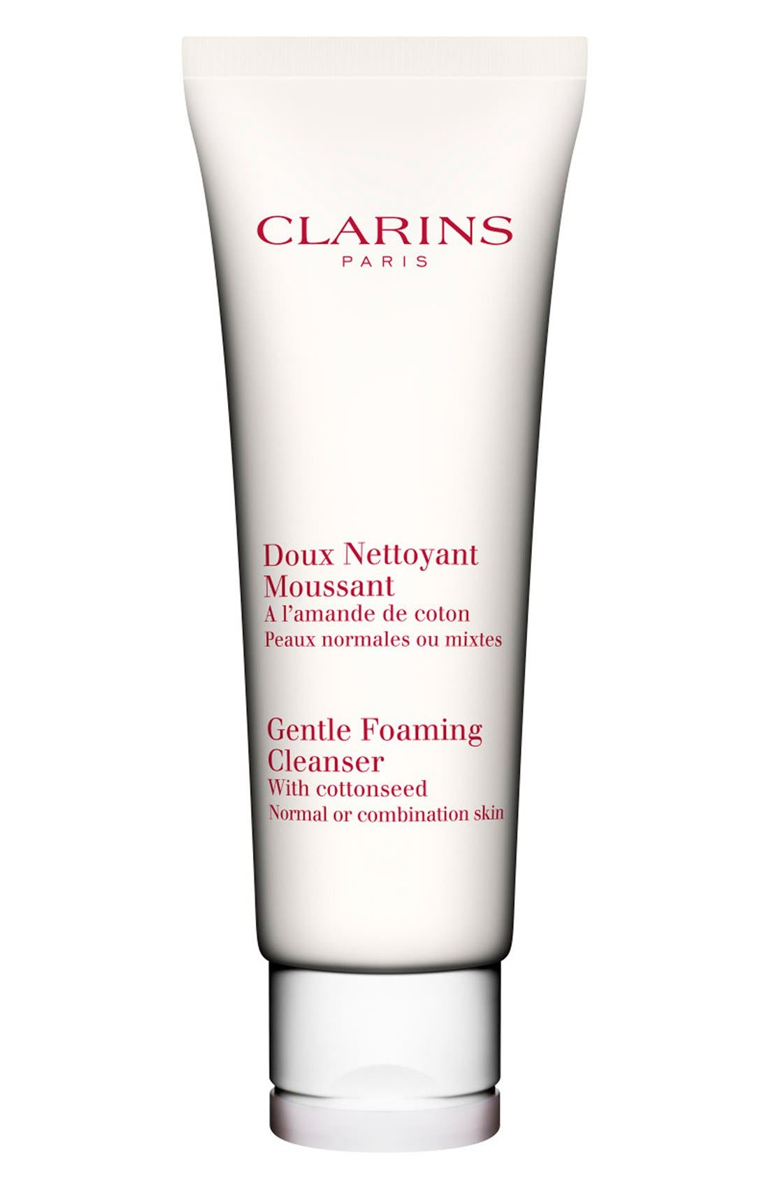 CLARINS Gentle Foaming Cleanser with Cottonseed for Normal/Combination Skin Types, Main, color, NO COLOR