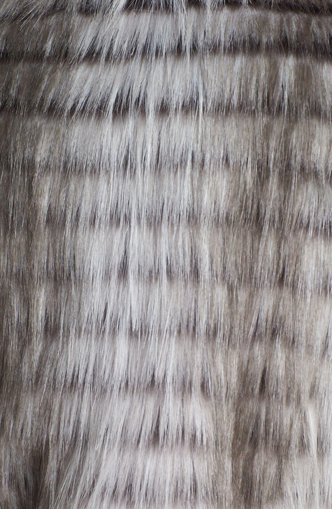VIA SPIGA, Faux Fur Vest, Alternate thumbnail 2, color, 020