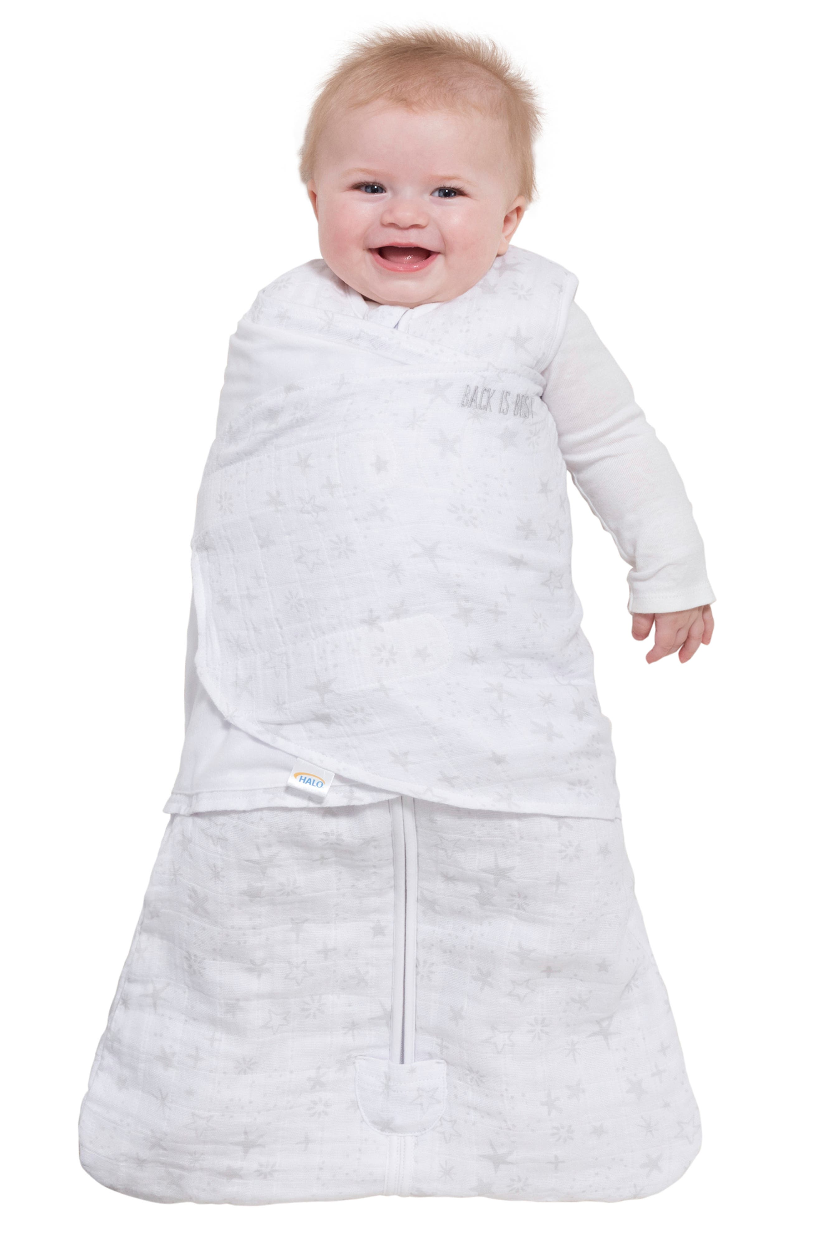 HALO<SUP>®</SUP>, Platinum Series SleepSack<sup>™</sup> Quilted Swaddle, Alternate thumbnail 9, color, GREY CONSTELLATION