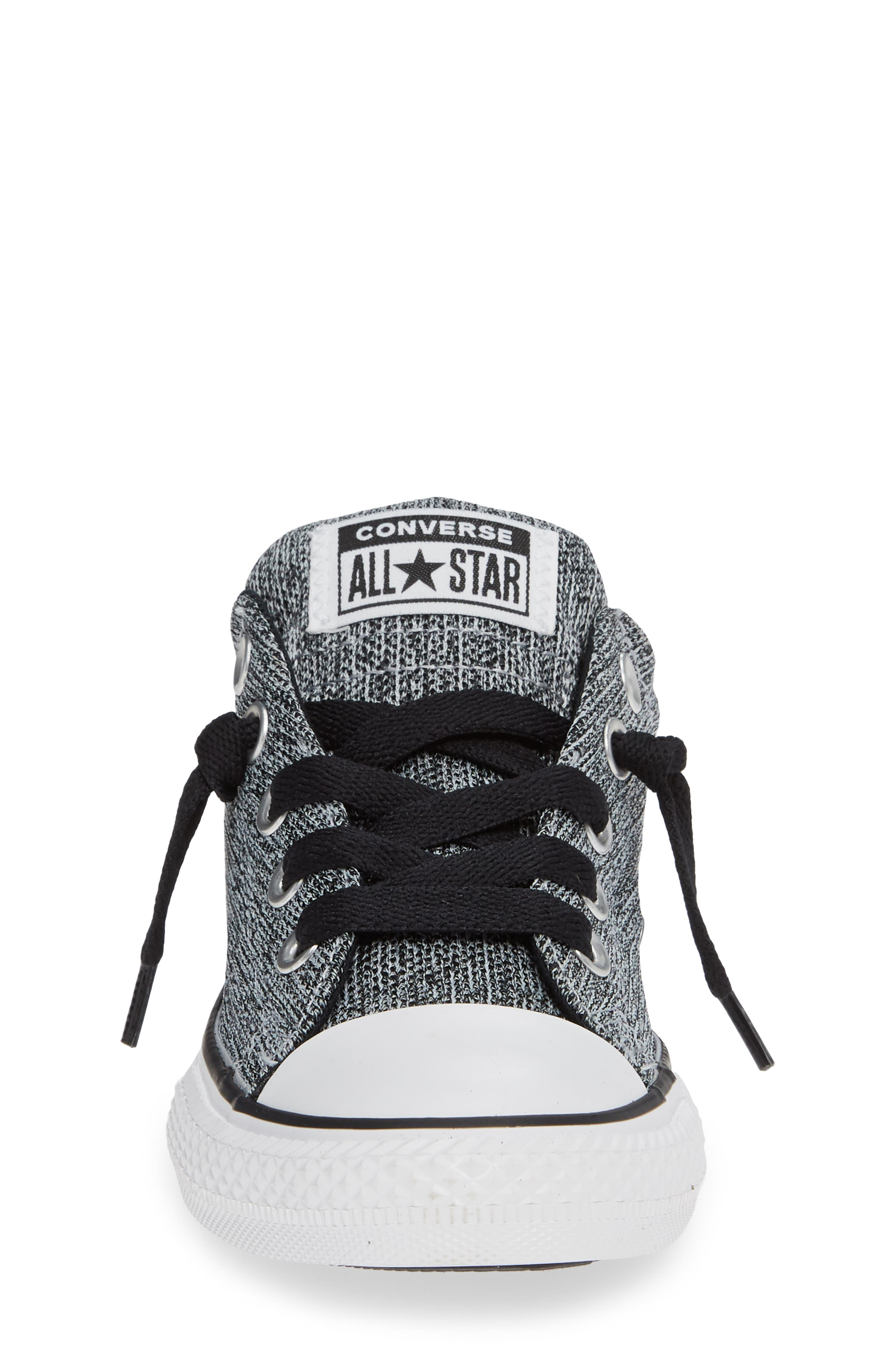 CONVERSE, All Star<sup>®</sup> Graphite Textured Street Low Top Sneaker, Alternate thumbnail 4, color, WOLF GREY
