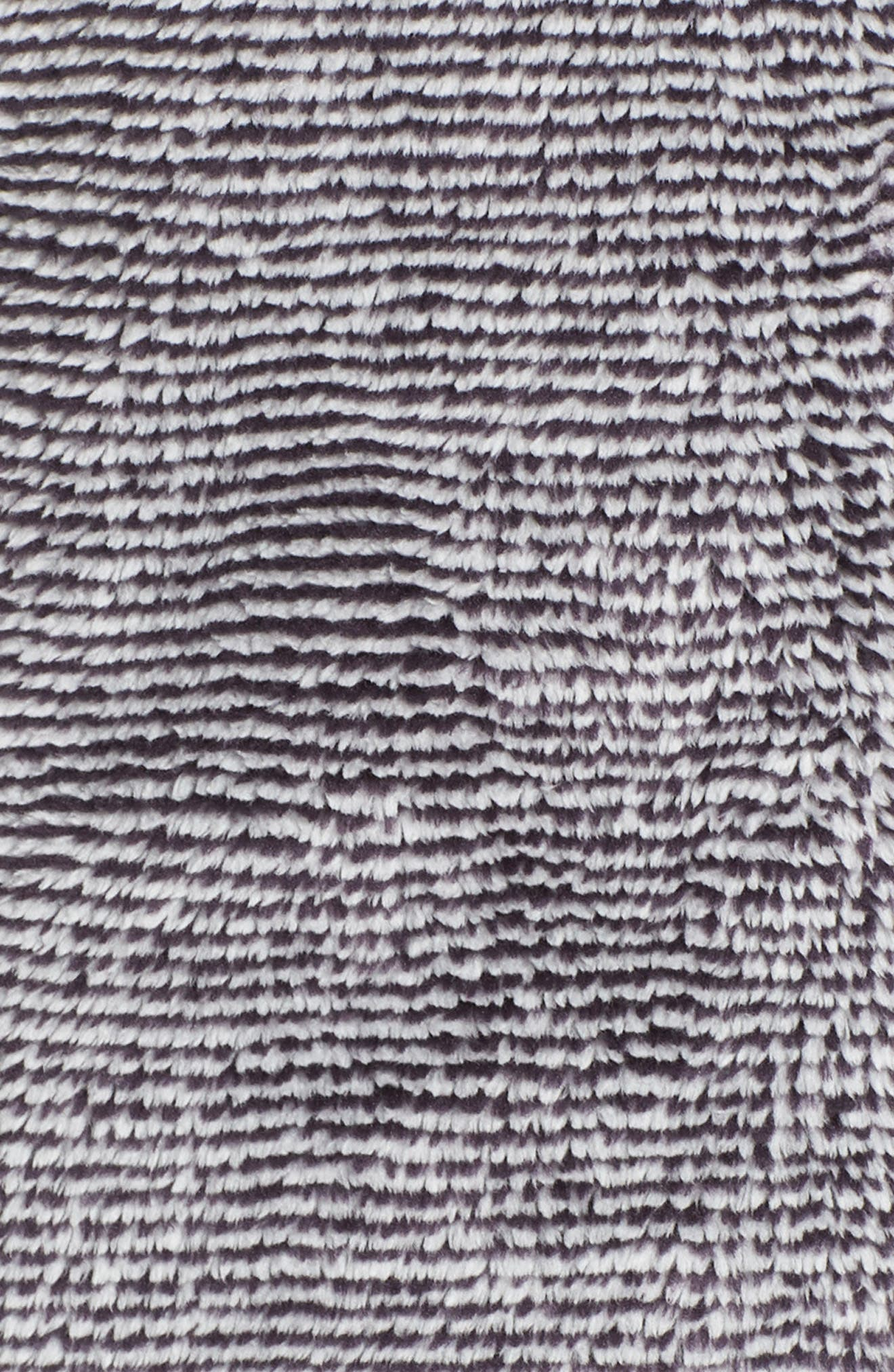 THE NORTH FACE, Osito 2 Stripe Fleece Jacket, Alternate thumbnail 7, color, BLACK/ TIN GREY STRIPE