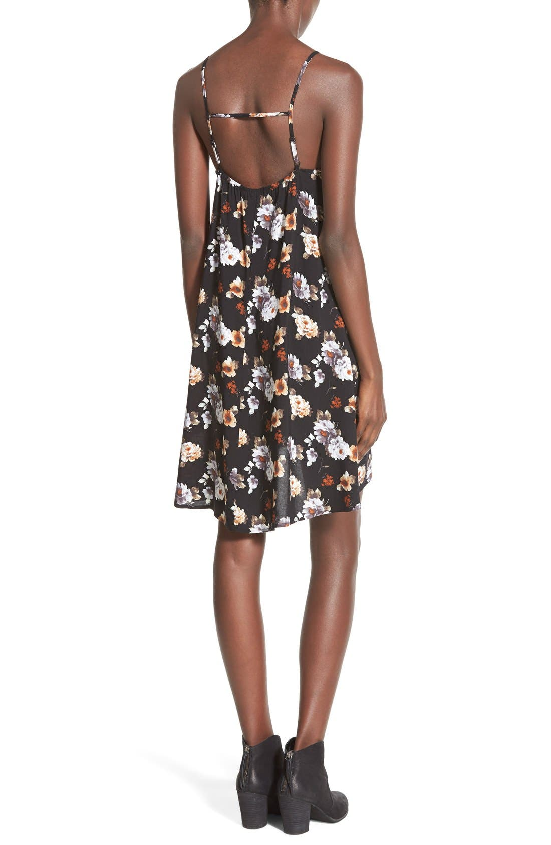 MIMI CHICA, Print Slipdress, Alternate thumbnail 4, color, 001